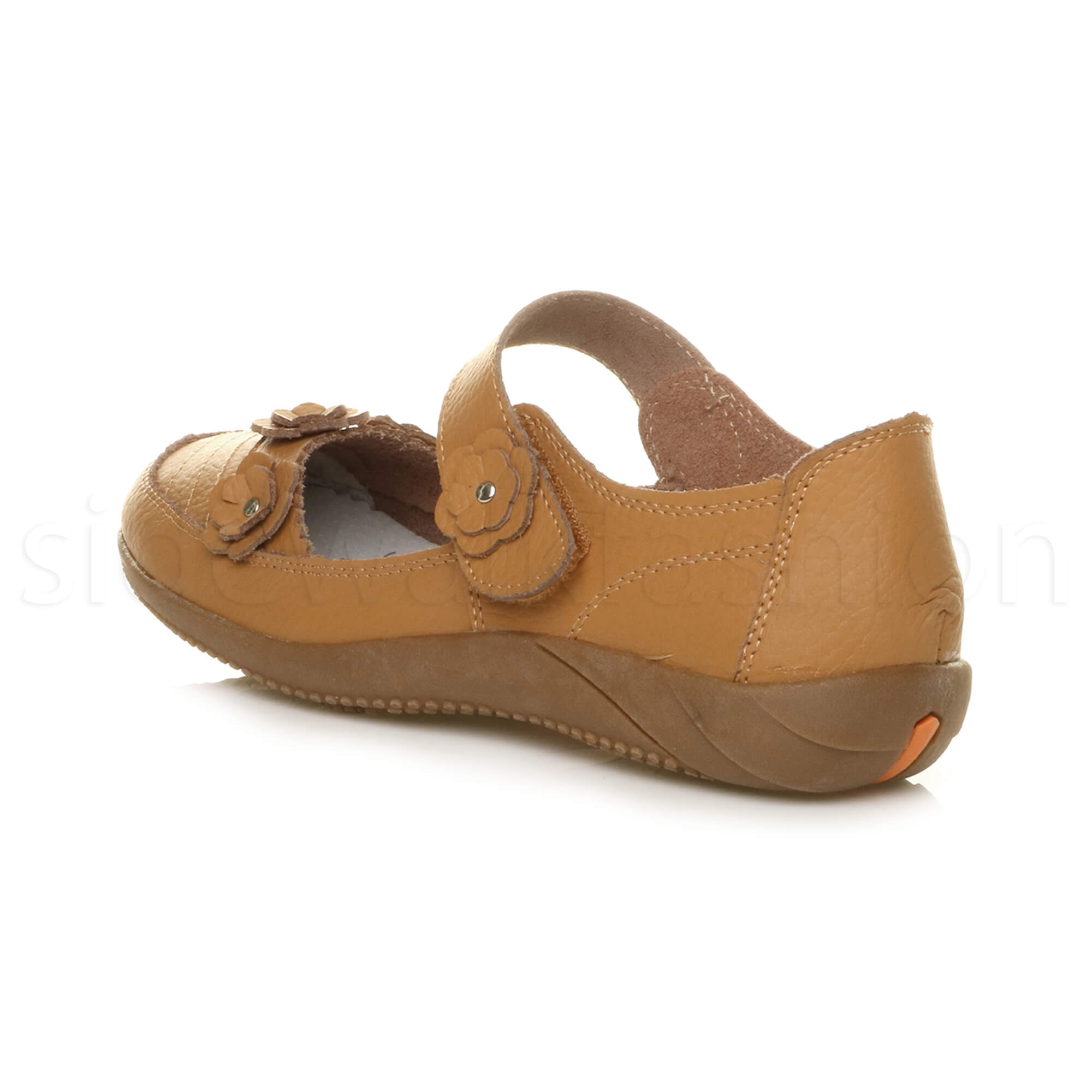 Womens-ladies-leather-comfort-walking-casual-sandals-mary-jane-strap-shoes-size thumbnail 20