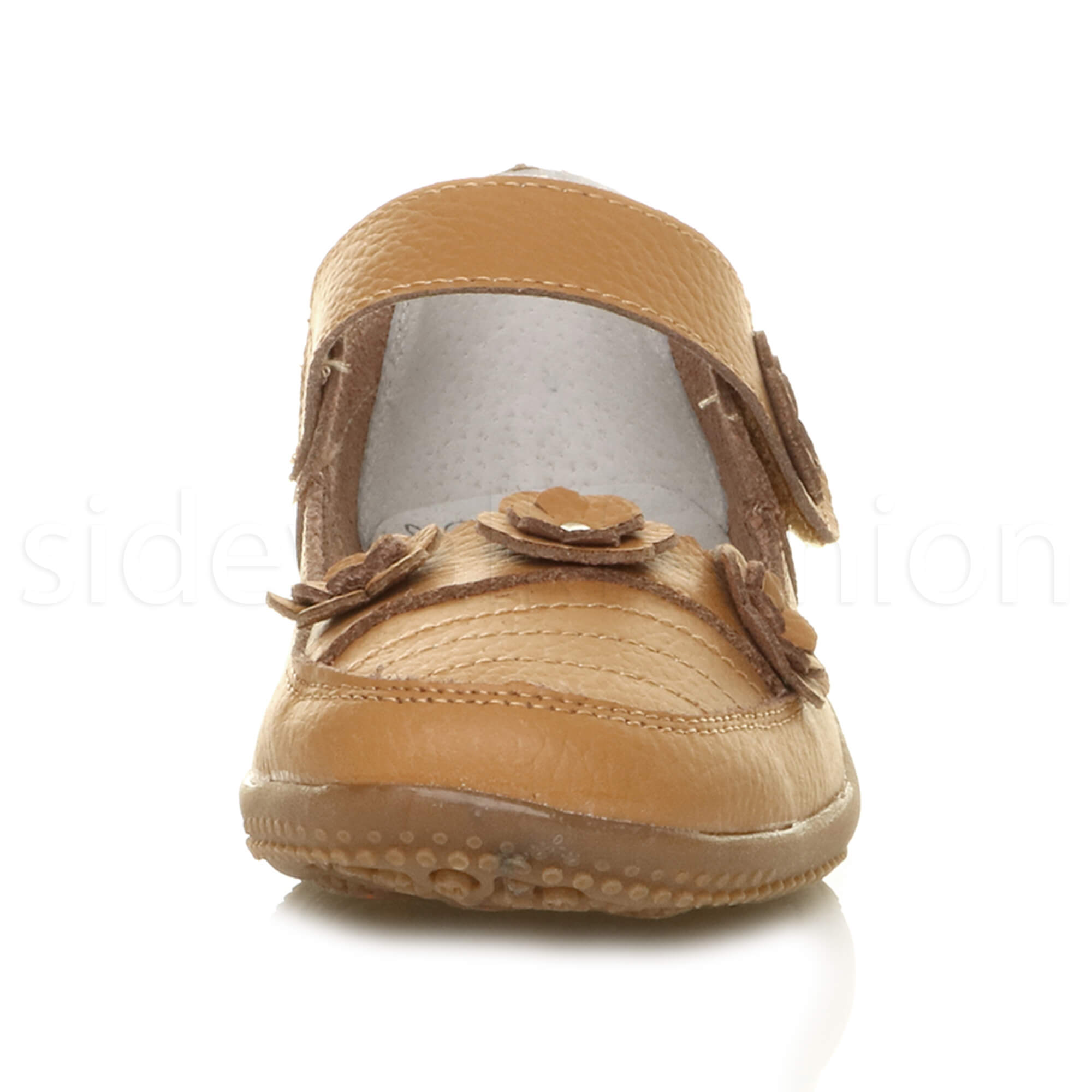 Womens-ladies-leather-comfort-walking-casual-sandals-mary-jane-strap-shoes-size thumbnail 21