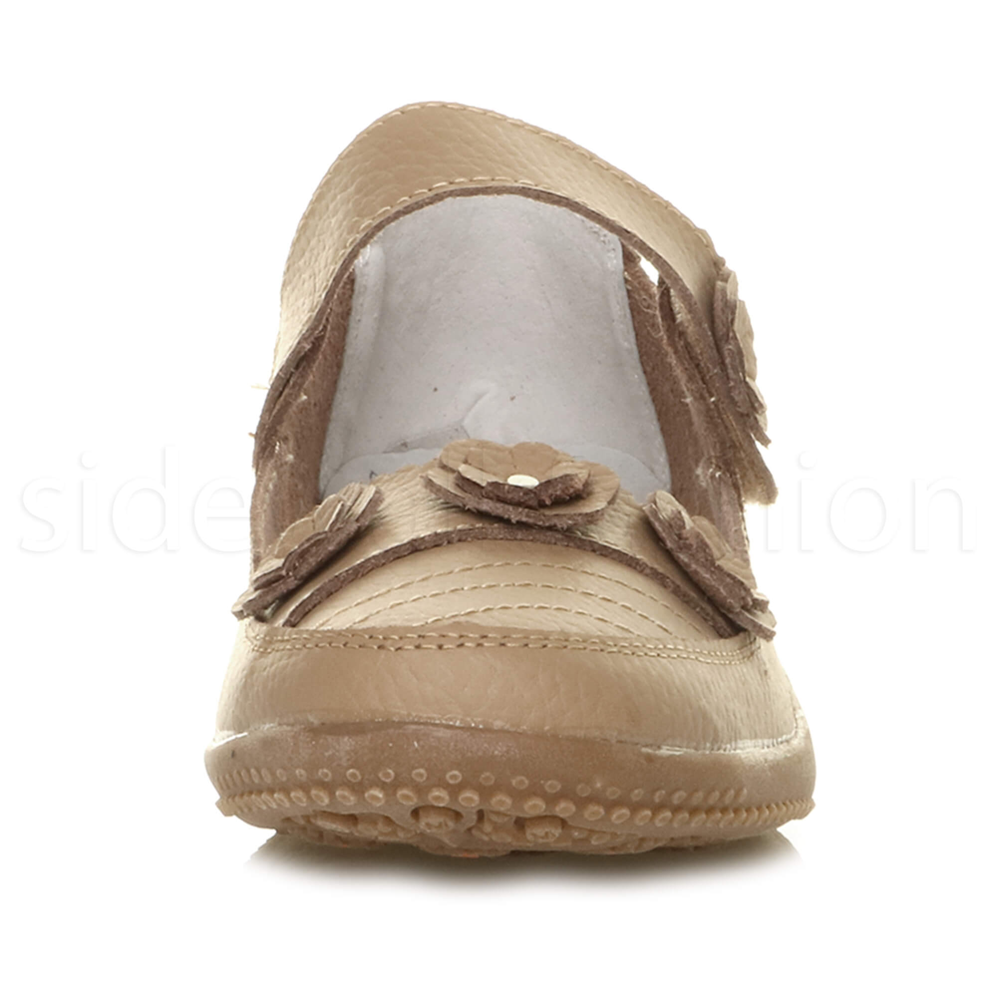 Womens-ladies-leather-comfort-walking-casual-sandals-mary-jane-strap-shoes-size thumbnail 6