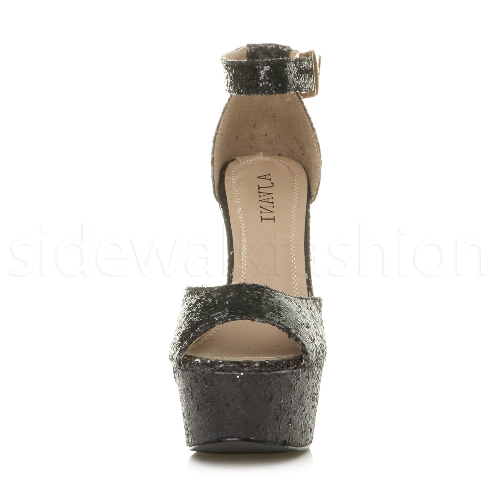 Womens-ladies-high-block-heel-peep-toe-shoes-evening-party-platform-sandals-size thumbnail 6