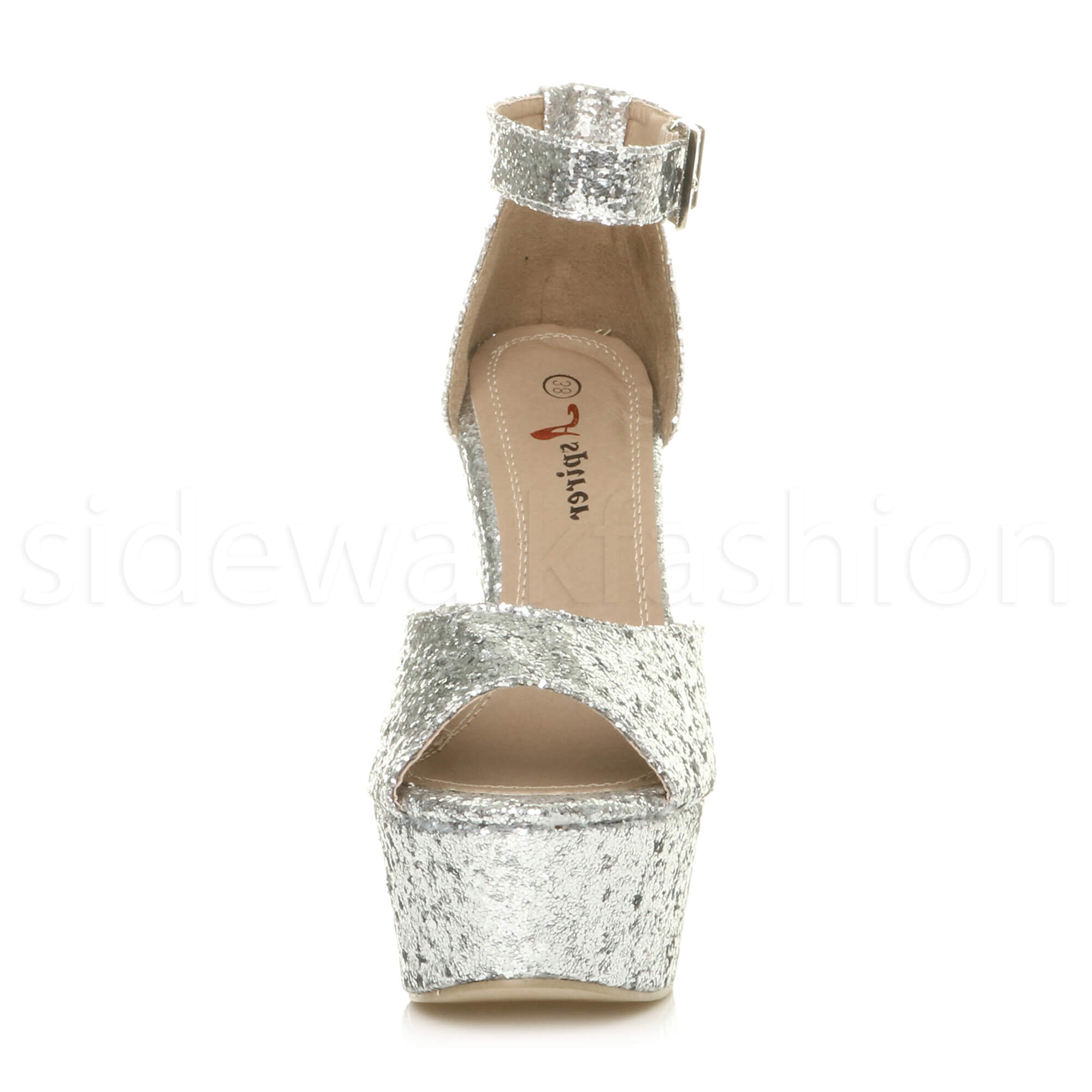 Womens-ladies-high-block-heel-peep-toe-shoes-evening-party-platform-sandals-size thumbnail 26