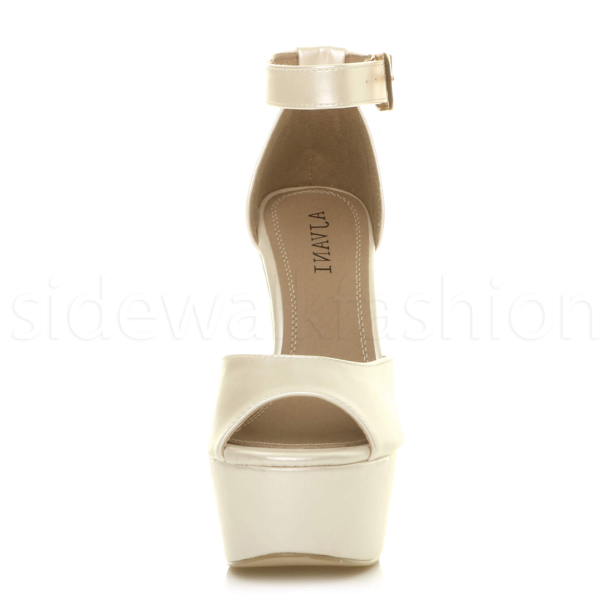 Womens-ladies-high-block-heel-peep-toe-shoes-evening-party-platform-sandals-size thumbnail 31
