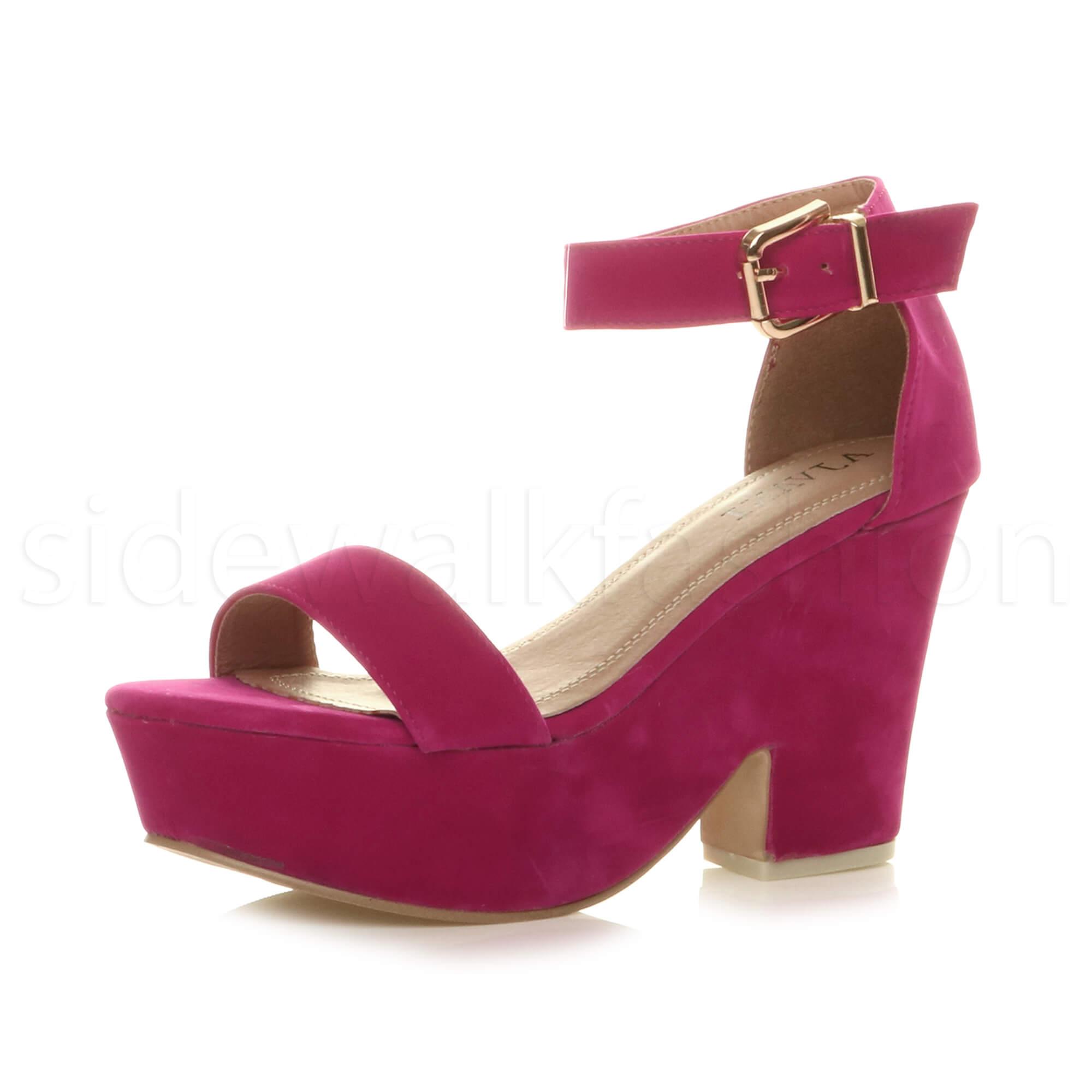 Semi High Wedge Womens Shoes