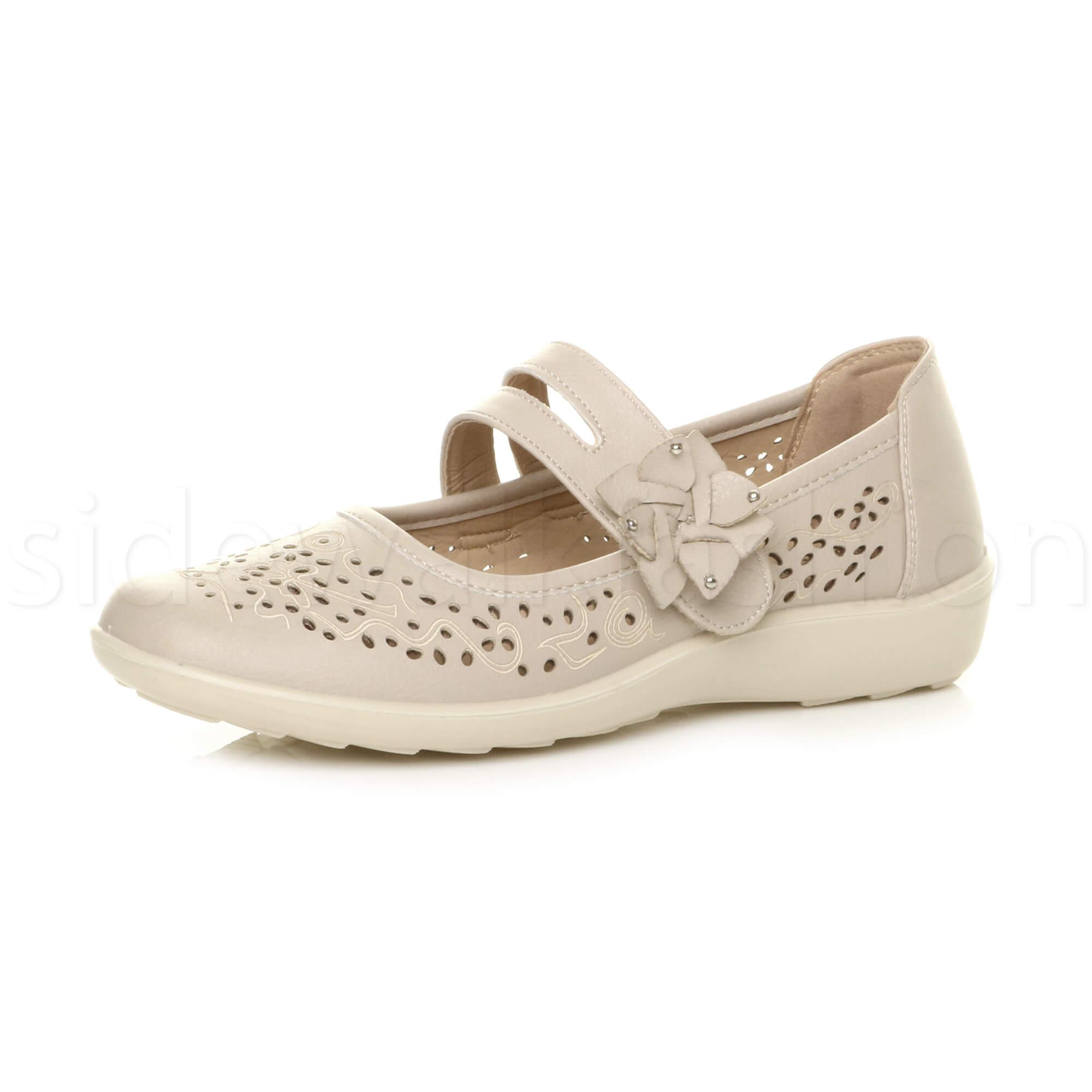 Mujer ladies flat grip cushioned mary jane smart Talla work summer comfort Zapatos Talla smart dc4948