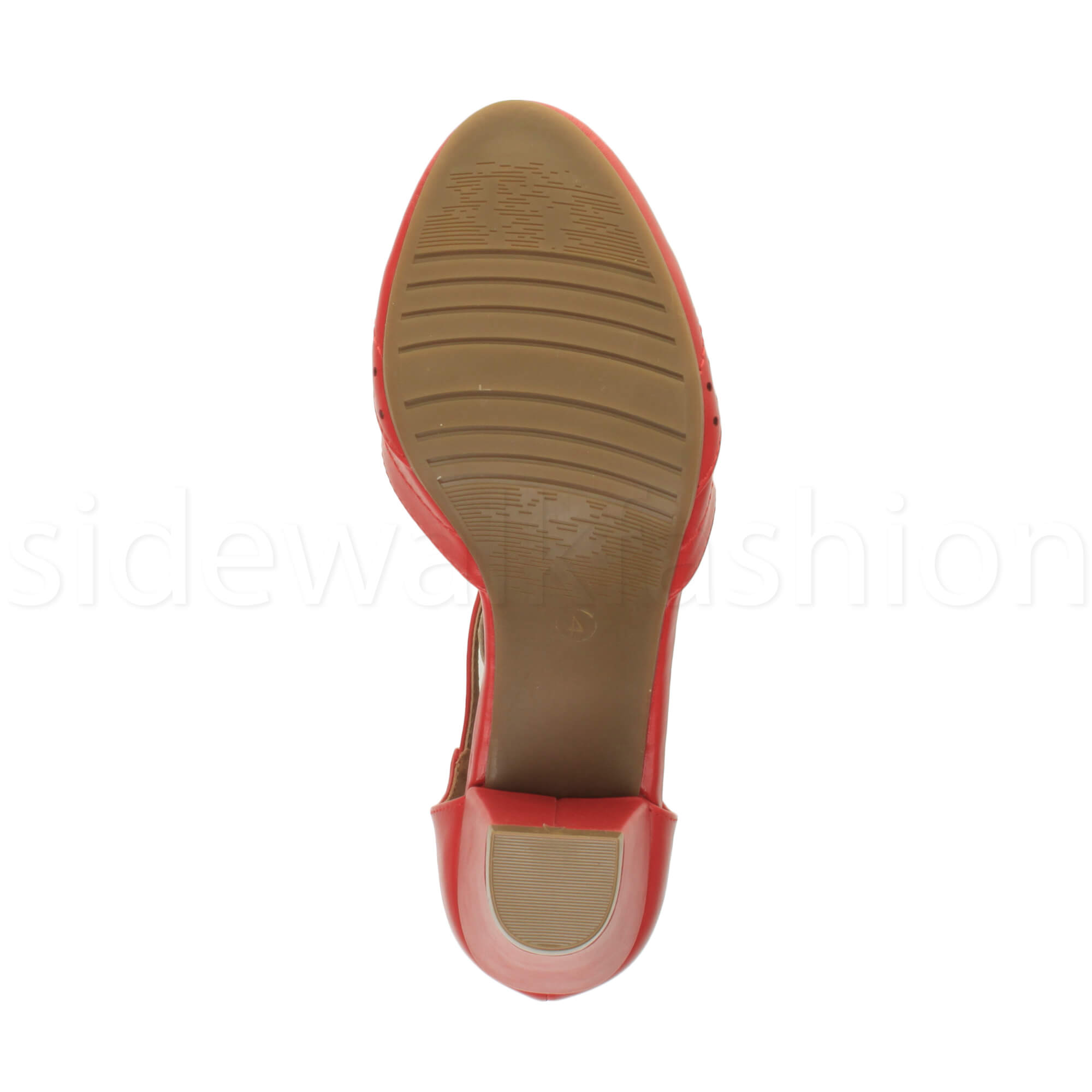 Womens-ladies-block-low-mid-heel-smart-work-Mary-Jane-T-bar-brogue-court-shoes thumbnail 64