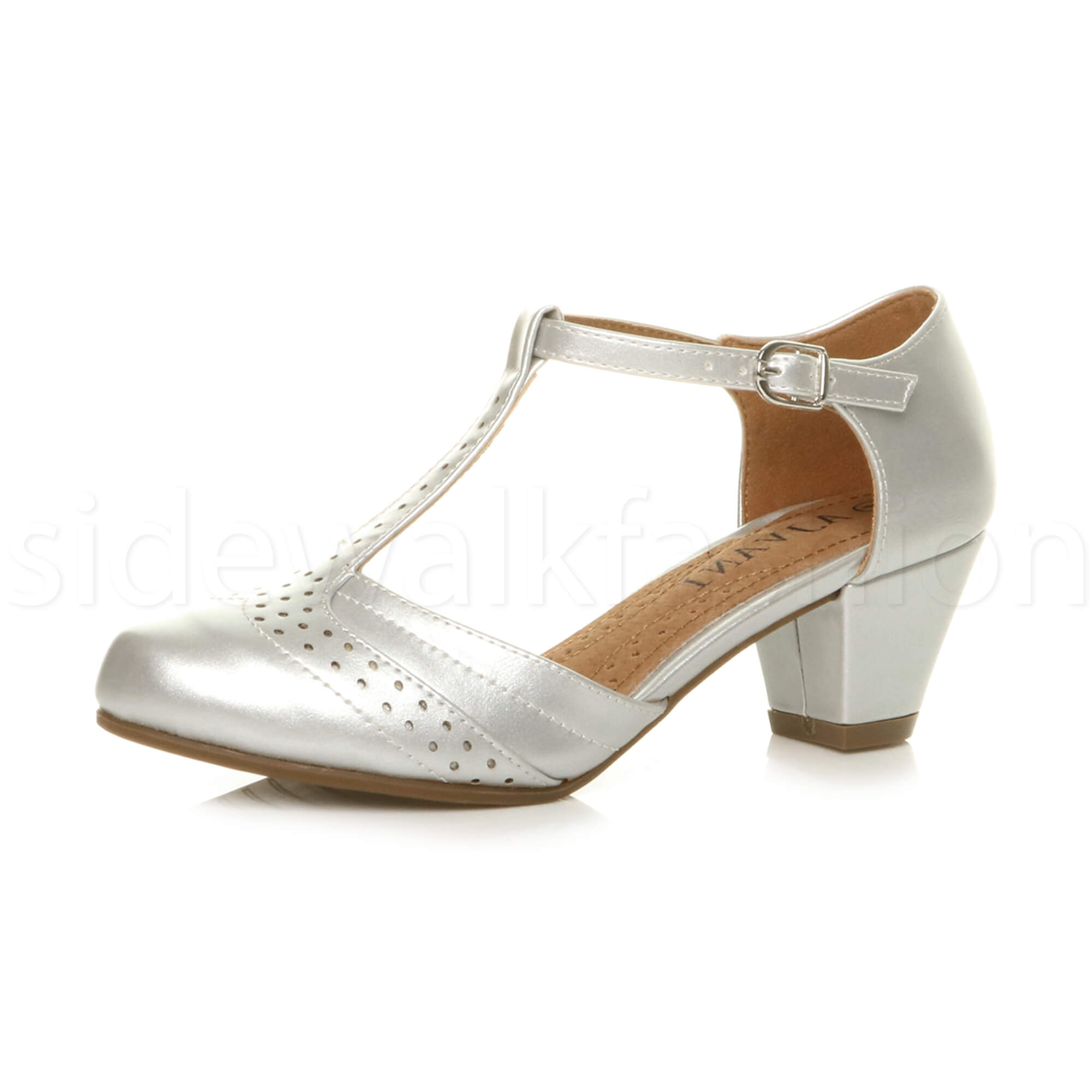 Womens Ladies Low Mid High Heel Block Mary Jane Smart Work Shoe Size 3 4 5 6 7 8