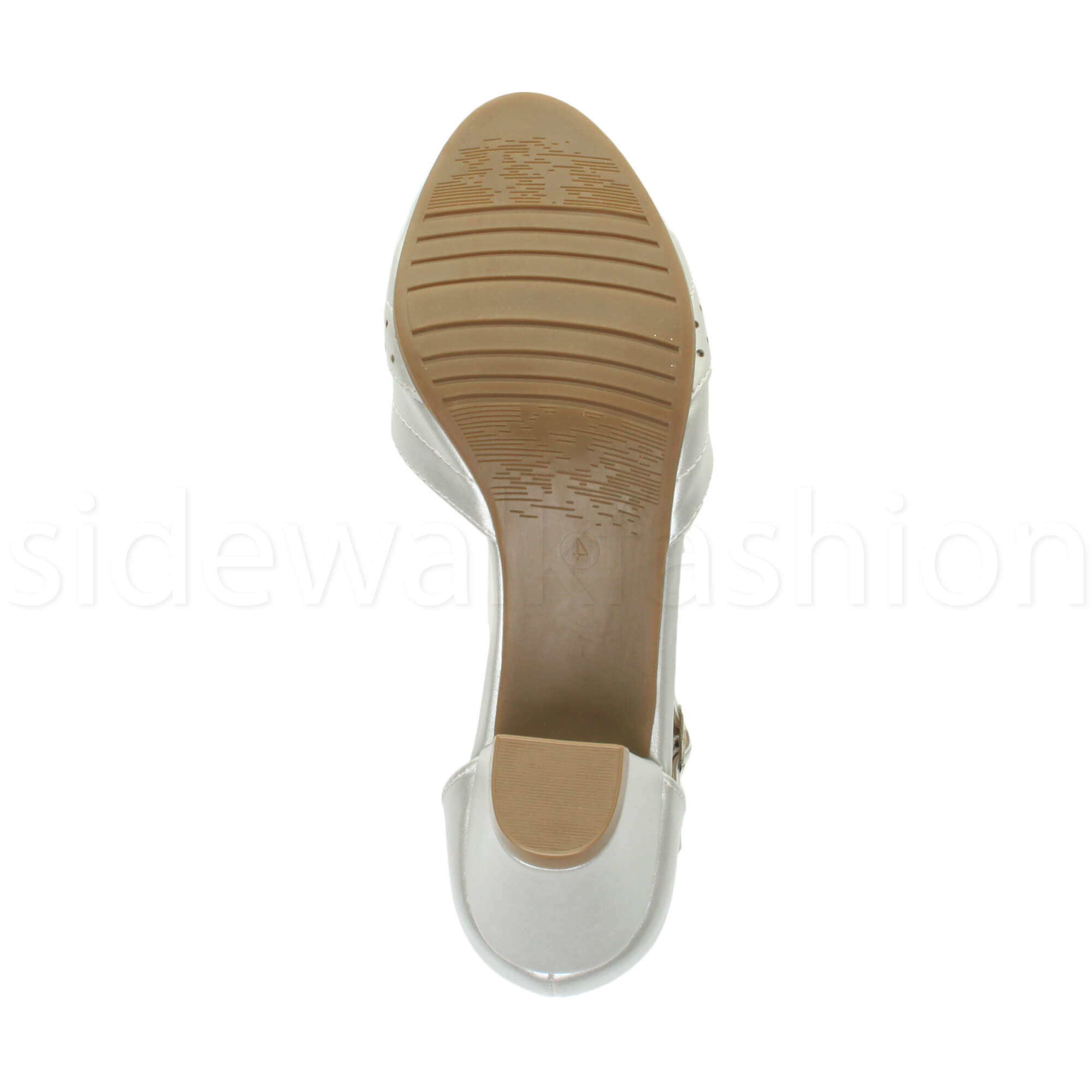 Womens-ladies-block-low-mid-heel-smart-work-Mary-Jane-T-bar-brogue-court-shoes thumbnail 71