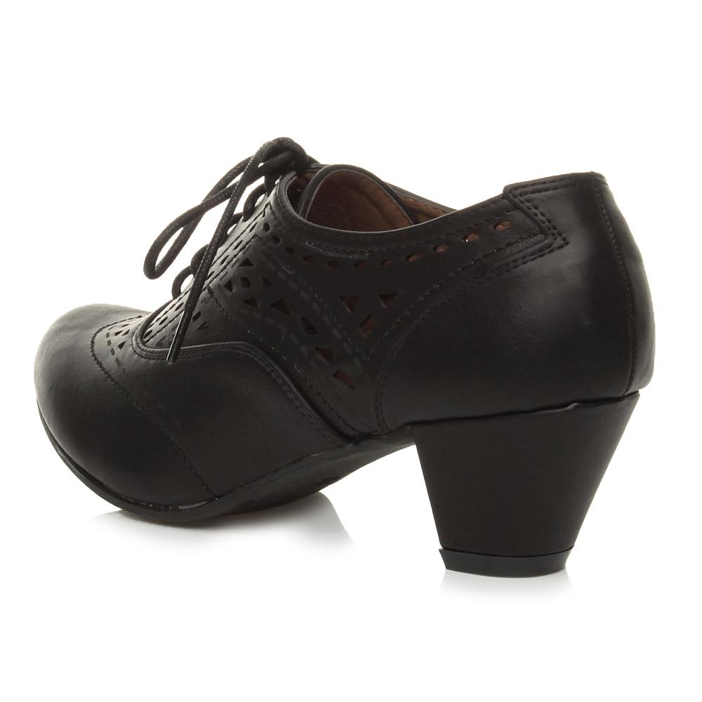 Ladies Black Shoe Boots Size