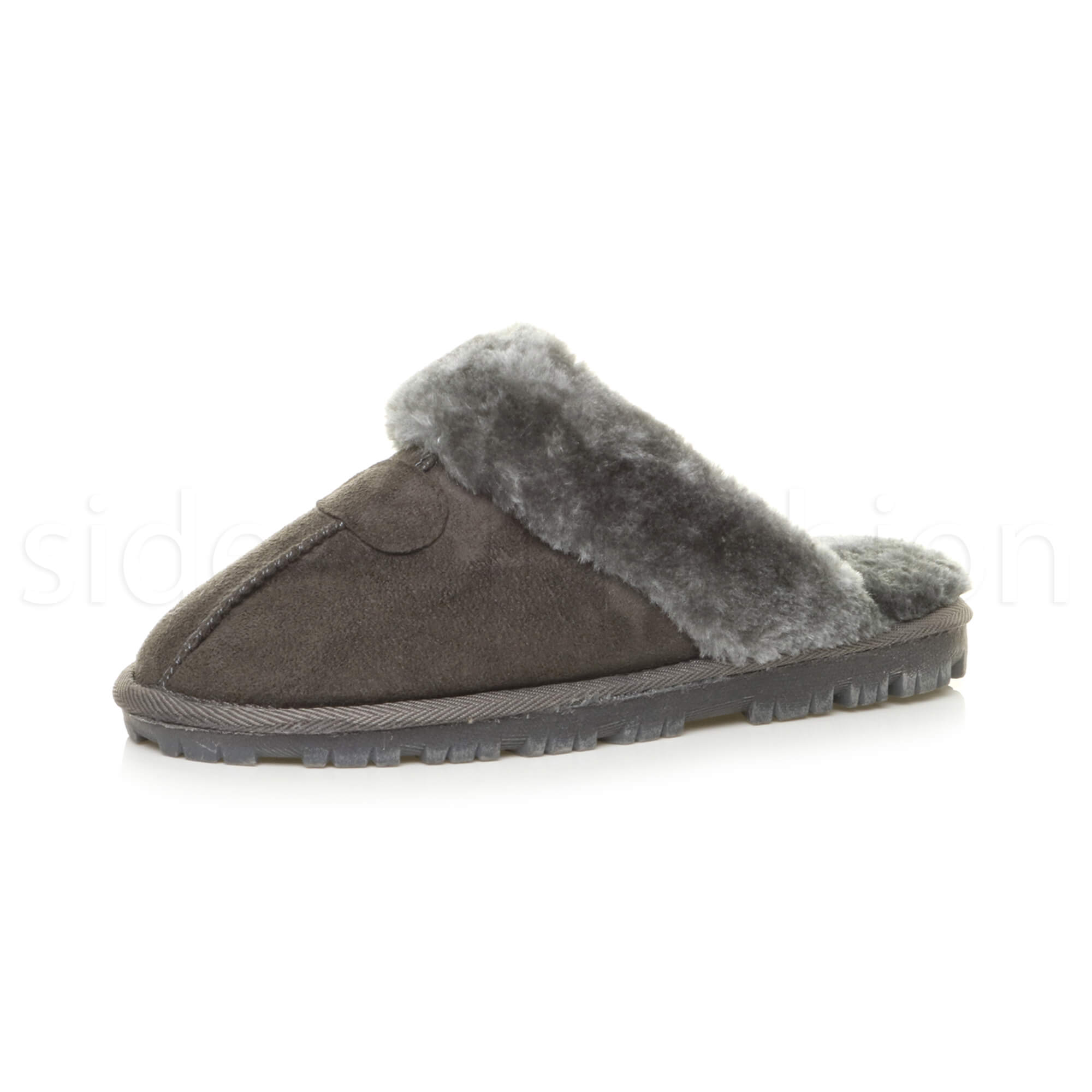 e0180bf71d4 Womens ladies winter fur lined luxury comfortable gift snug slippers mules  size