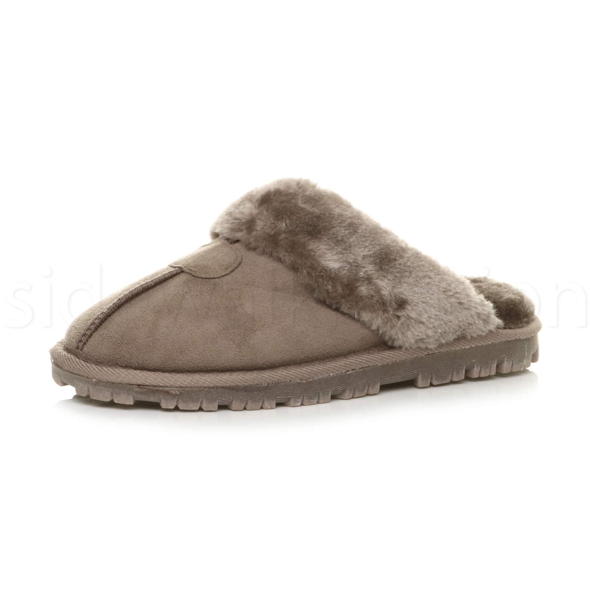 Donna-Inverno-Pelliccia-con-lusso-confortevole-Pantofole-Regalo-accogliente-Muli-Size