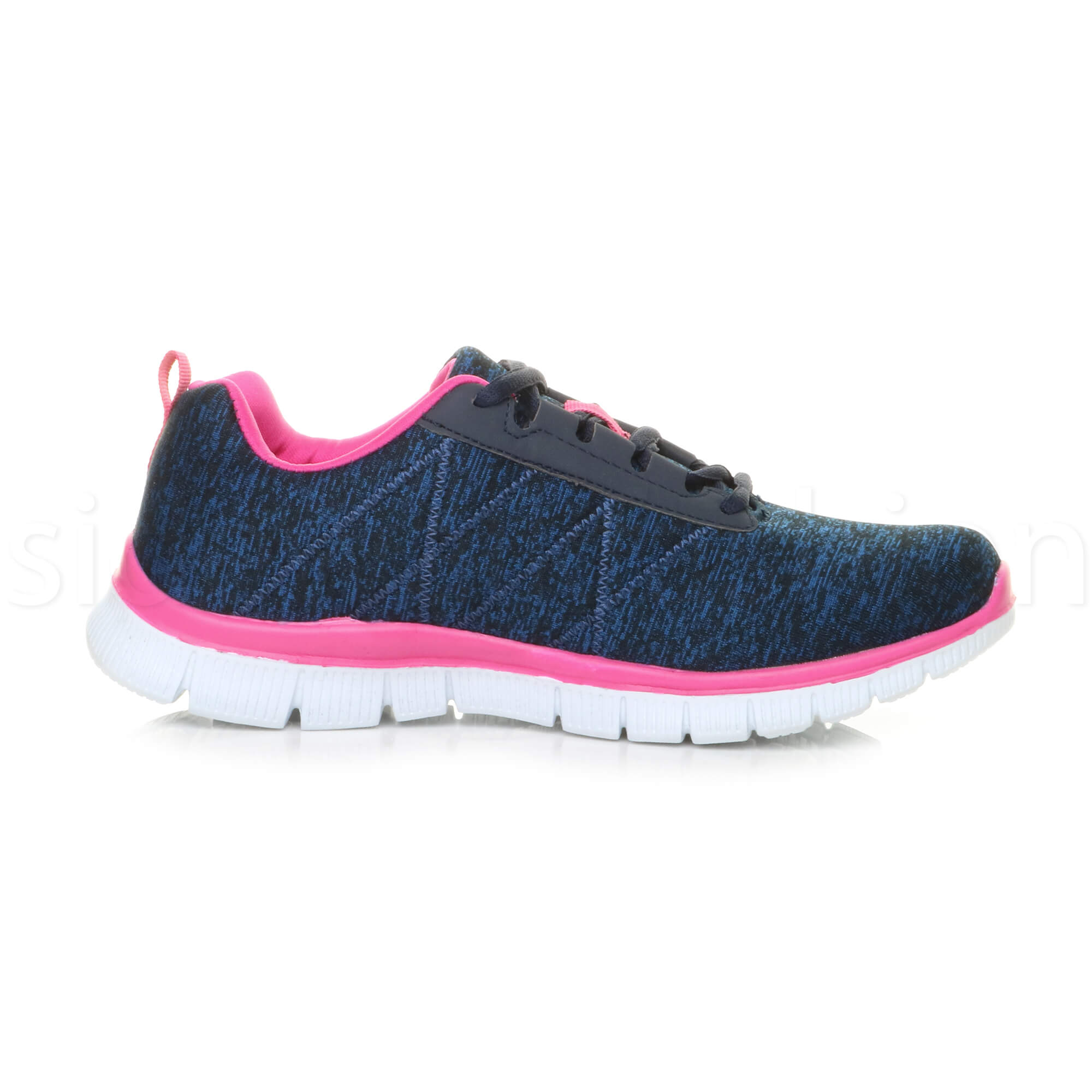 Womens-ladies-comfort-memory-foam-lace-up-trainers-activewear-sneakers-gym-shoes thumbnail 66