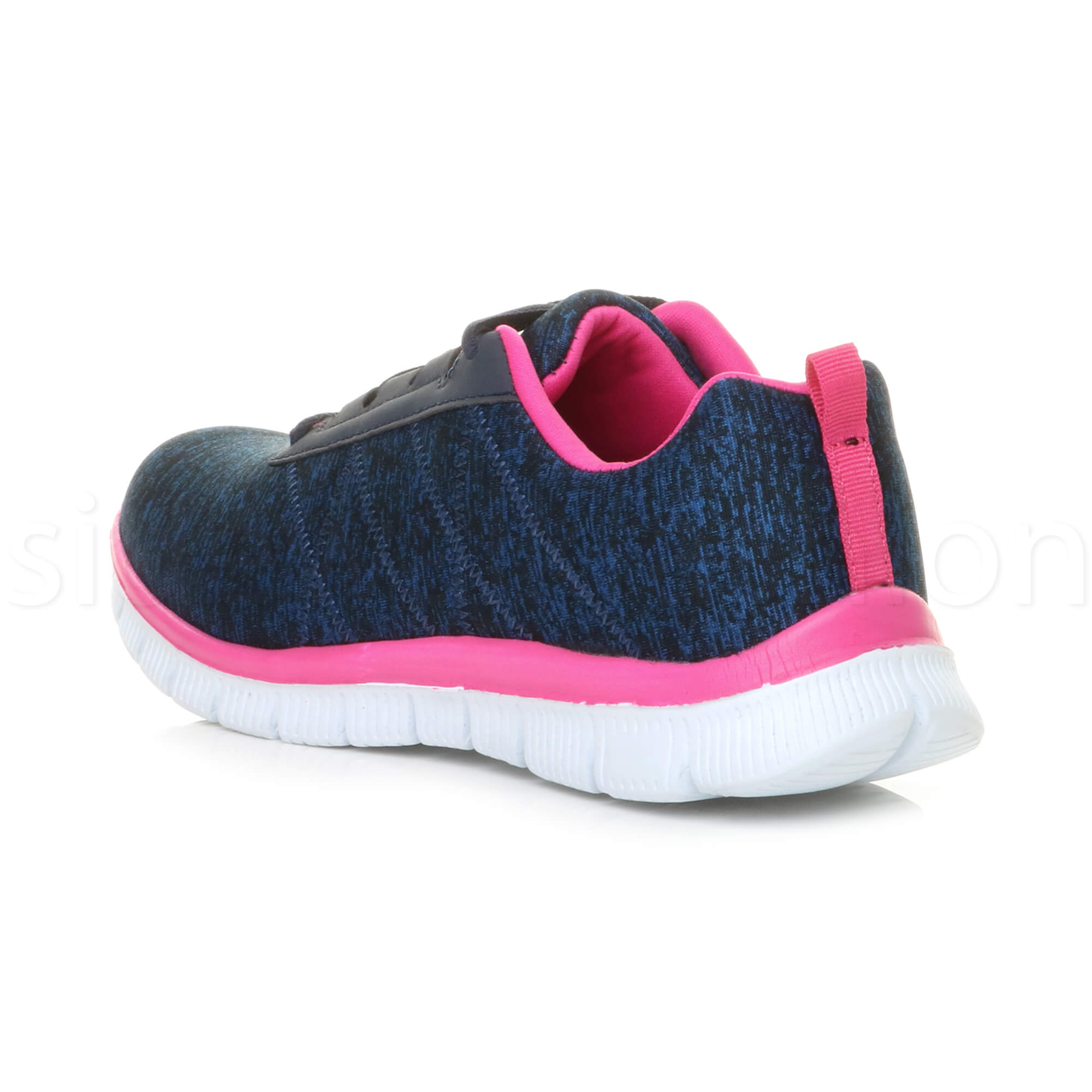Womens-ladies-comfort-memory-foam-lace-up-trainers-activewear-sneakers-gym-shoes thumbnail 67