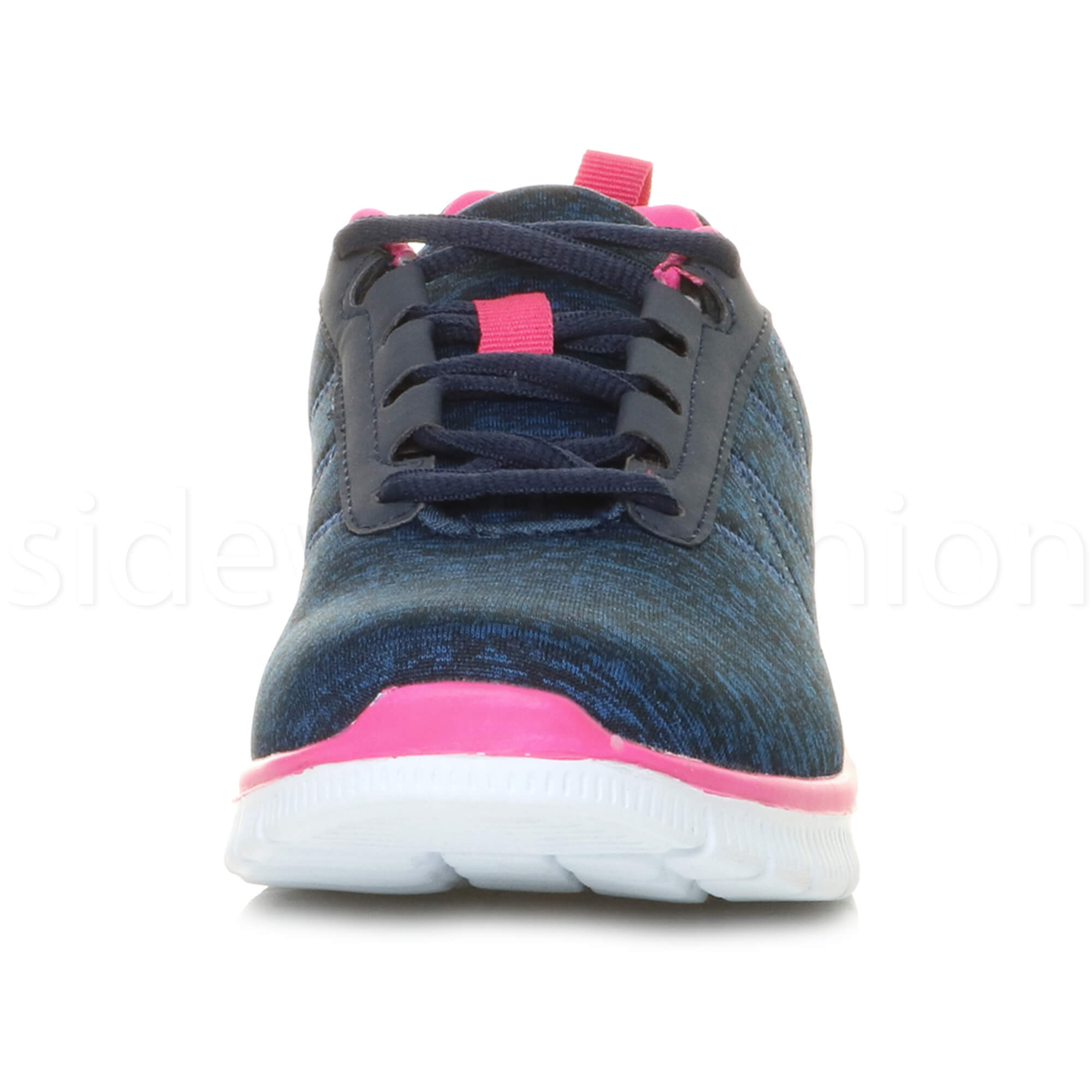 Womens-ladies-comfort-memory-foam-lace-up-trainers-activewear-sneakers-gym-shoes thumbnail 69