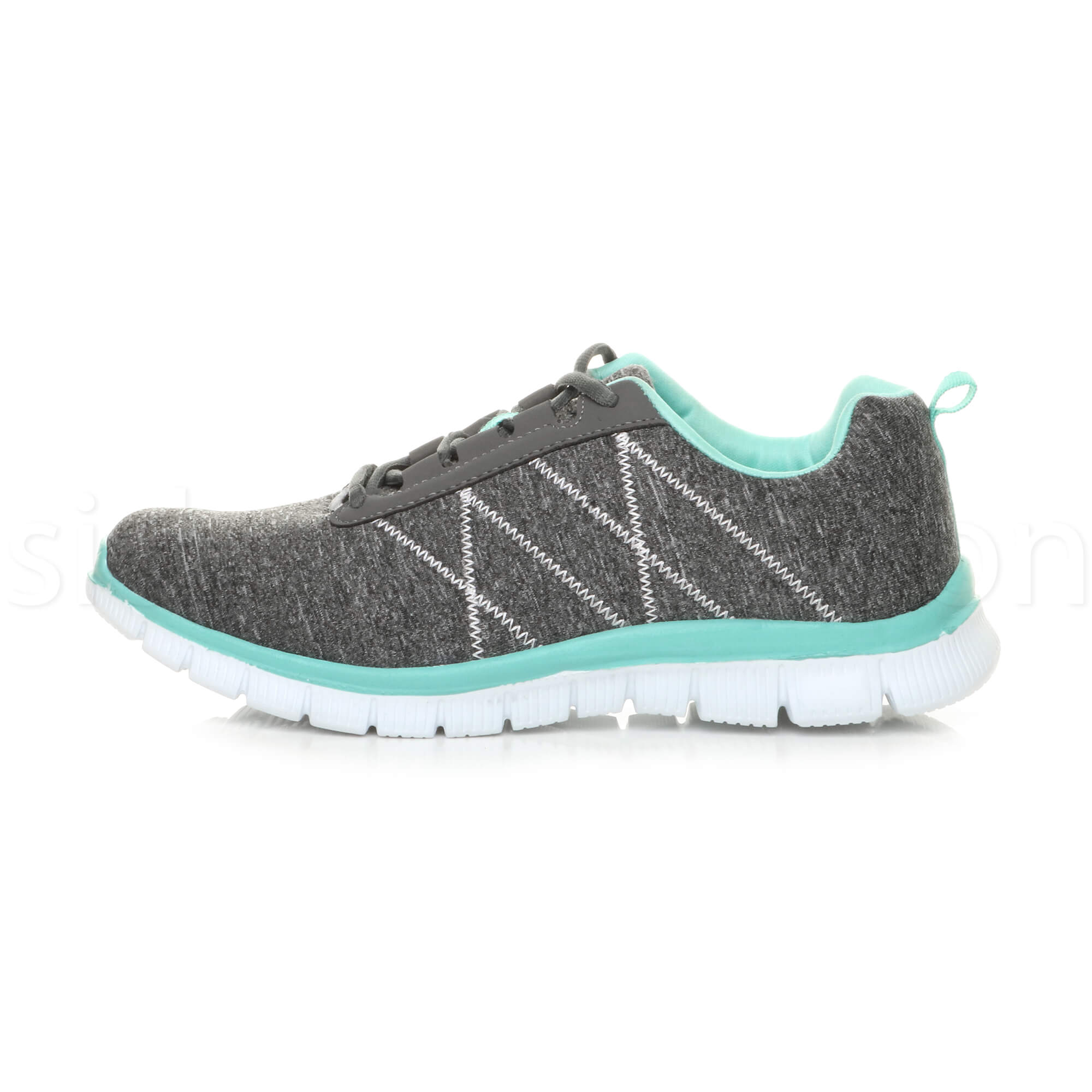 Womens-ladies-comfort-memory-foam-lace-up-trainers-activewear-sneakers-gym-shoes thumbnail 45