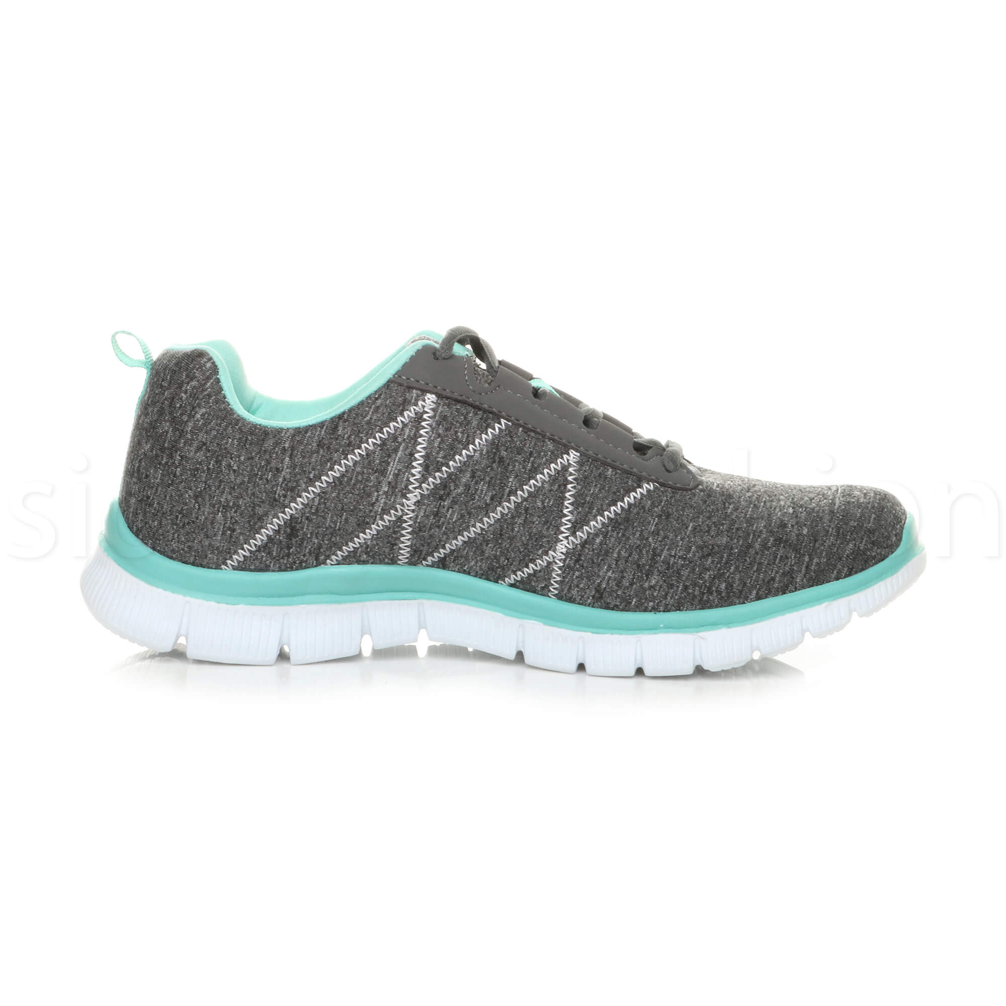 Womens-ladies-comfort-memory-foam-lace-up-trainers-activewear-sneakers-gym-shoes thumbnail 46