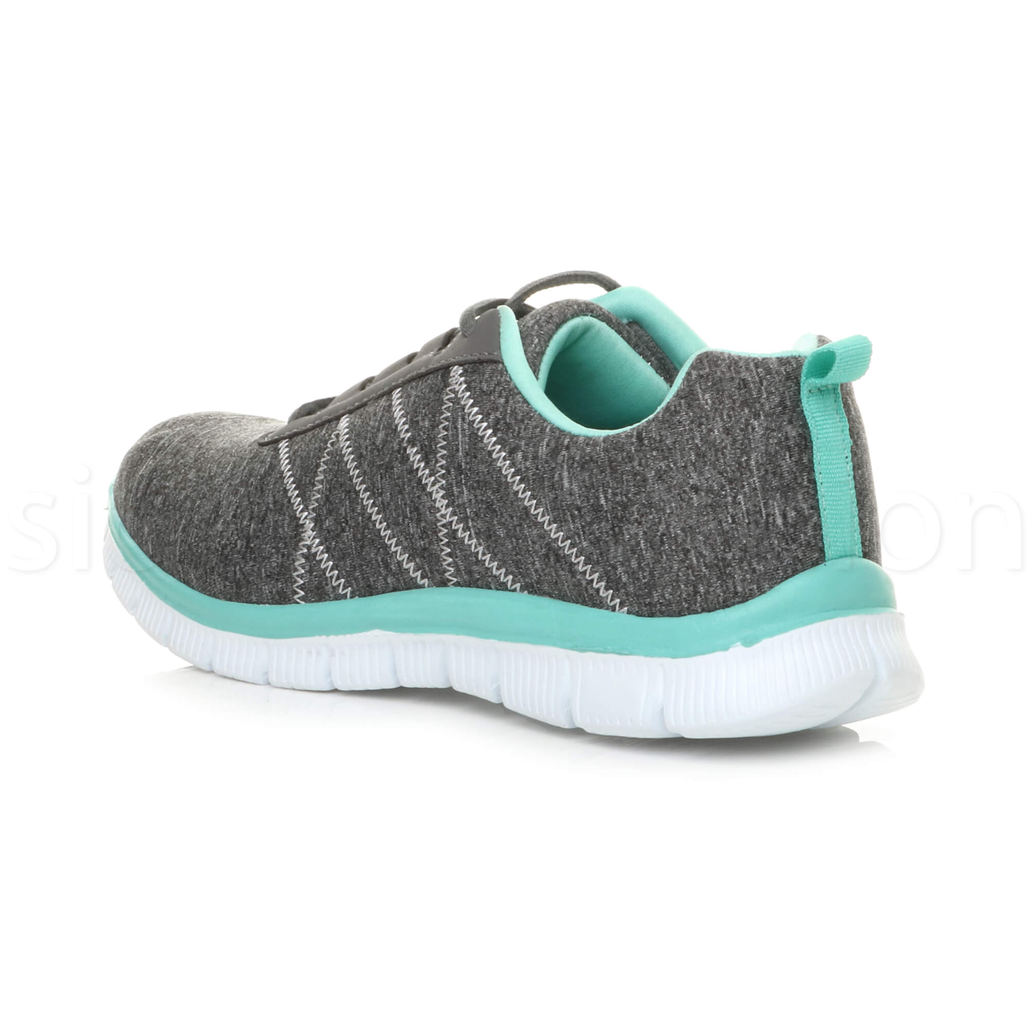 Womens-ladies-comfort-memory-foam-lace-up-trainers-activewear-sneakers-gym-shoes thumbnail 47