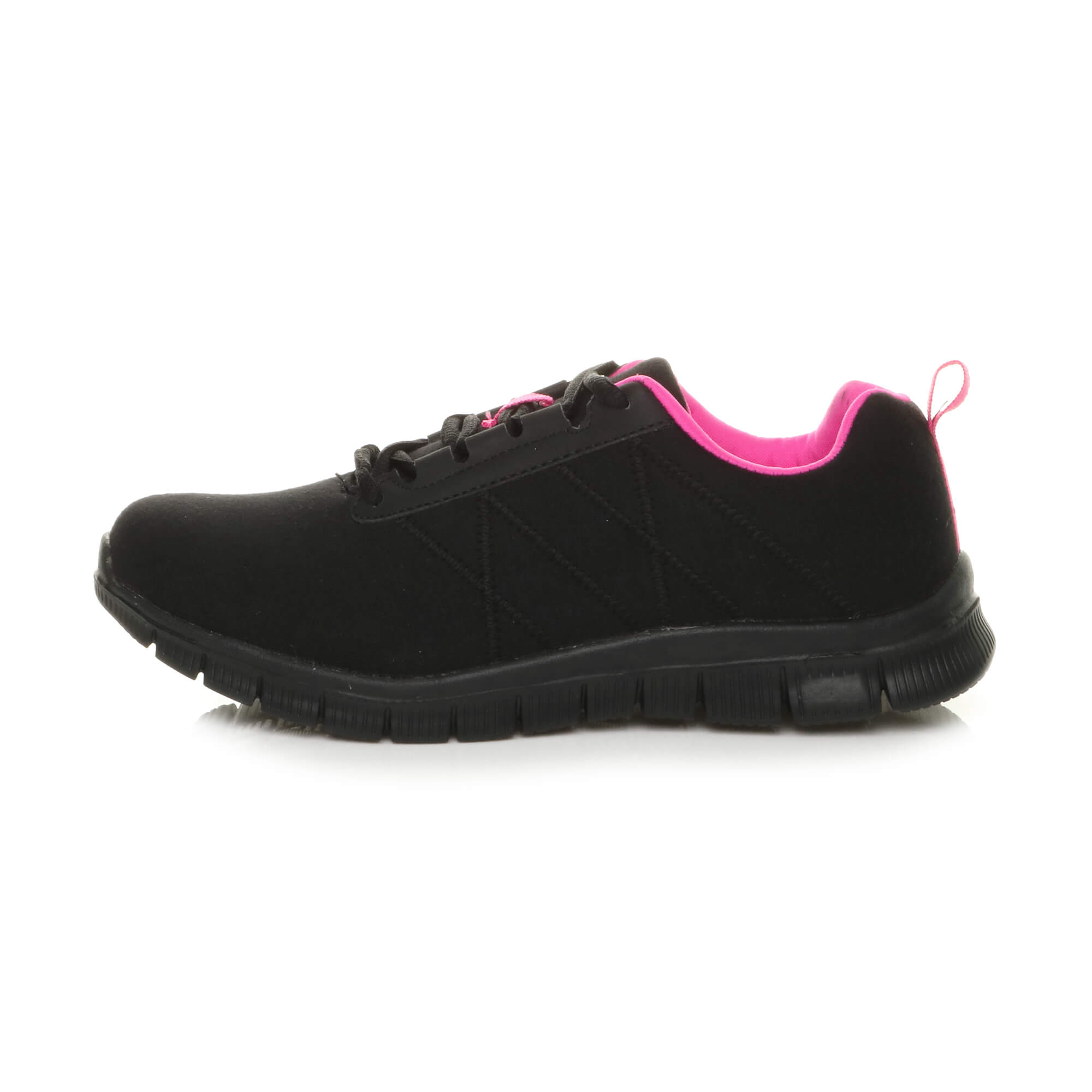 Womens-ladies-comfort-memory-foam-lace-up-trainers-activewear-sneakers-gym-shoes thumbnail 3