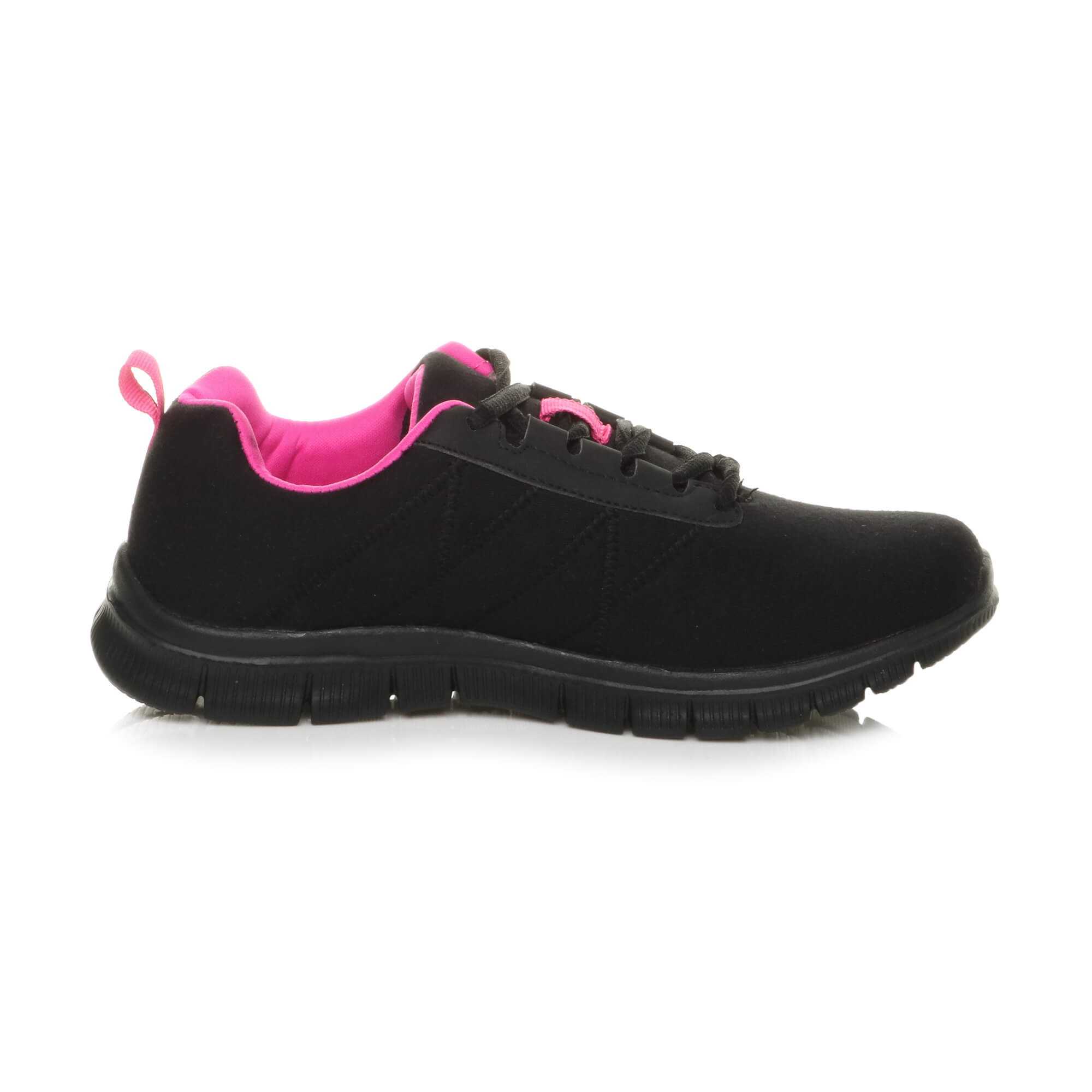 Womens-ladies-comfort-memory-foam-lace-up-trainers-activewear-sneakers-gym-shoes thumbnail 4