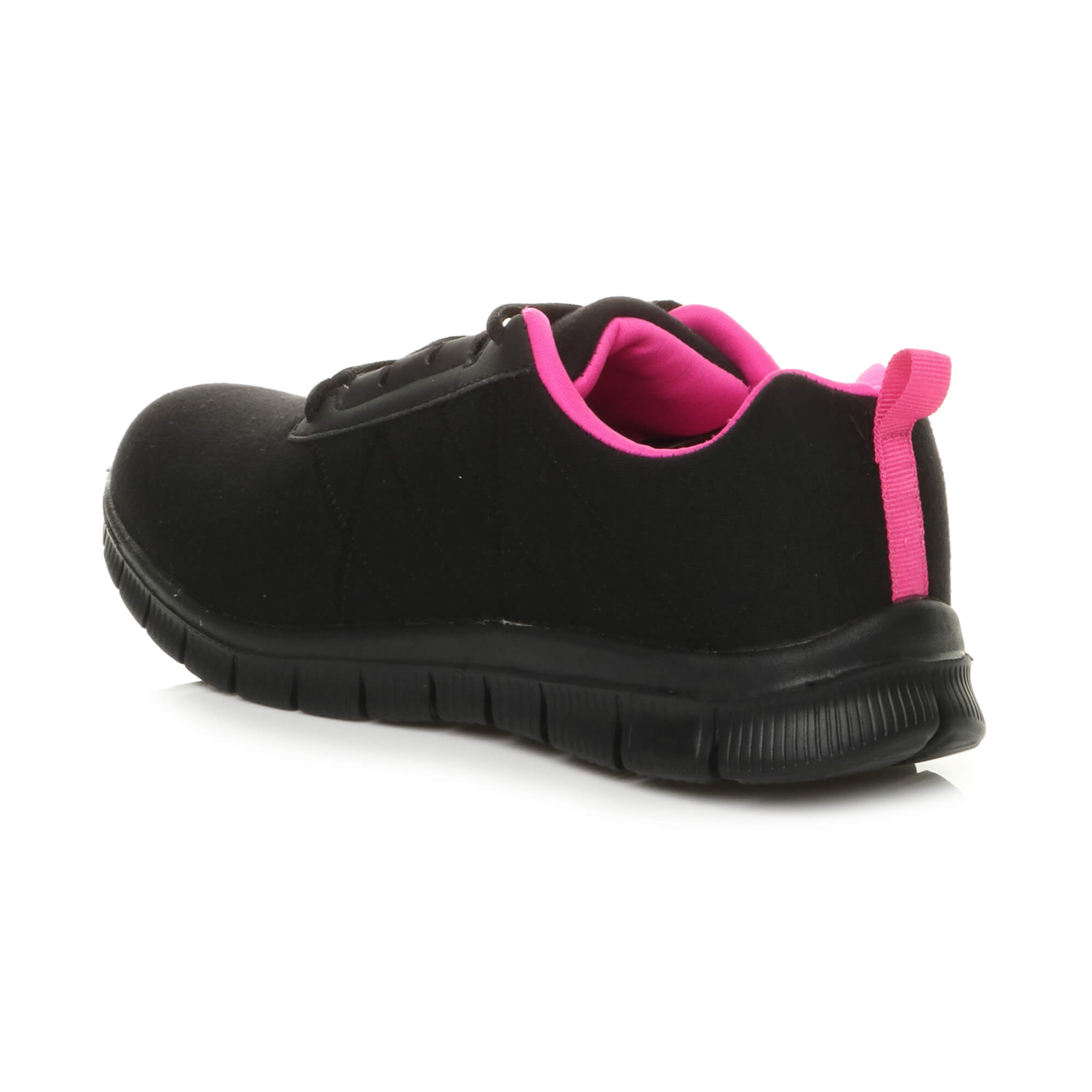 Womens ladies comfort memory foam lace up trainers activewear sneakers gym shoes