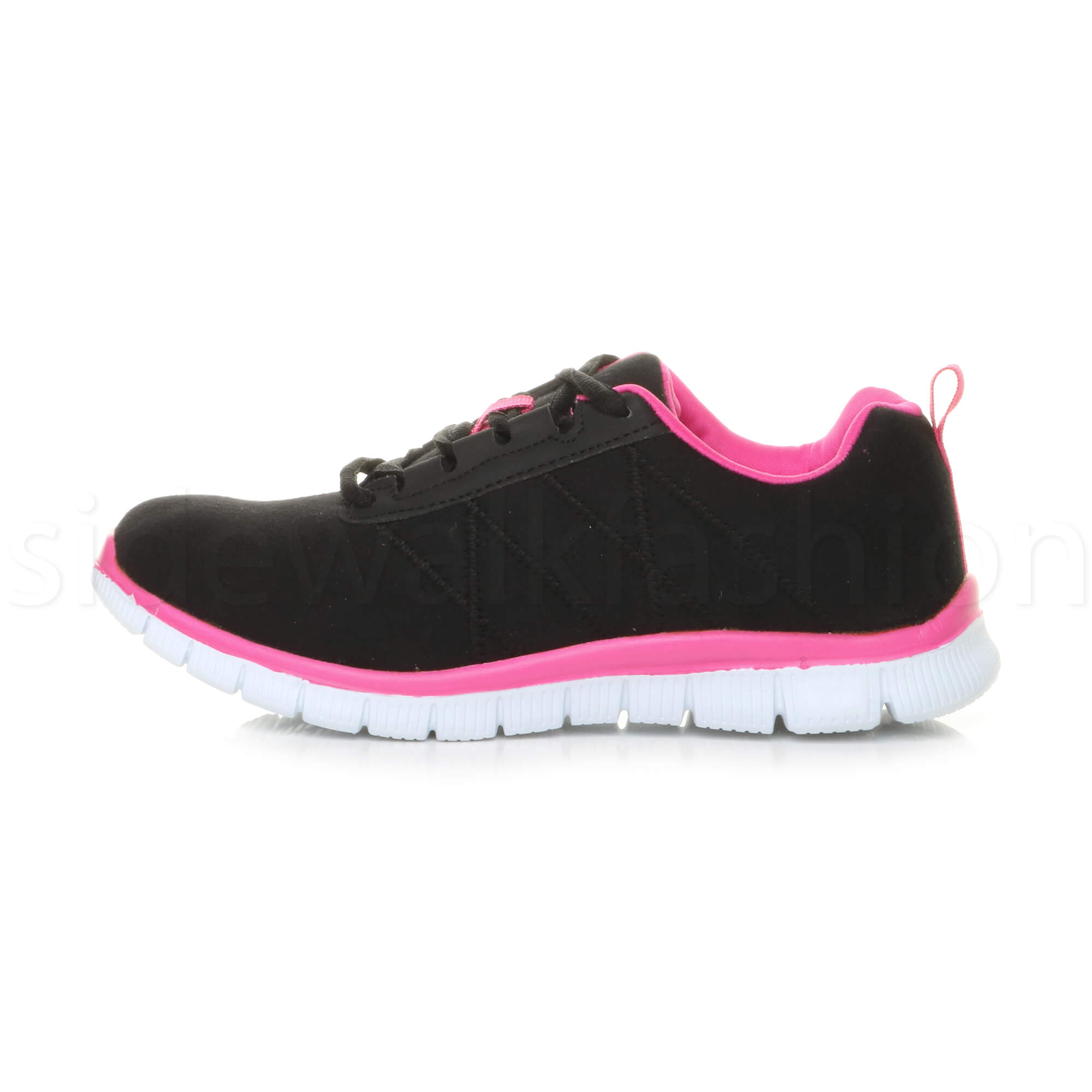 Womens-ladies-comfort-memory-foam-lace-up-trainers-activewear-sneakers-gym-shoes thumbnail 15