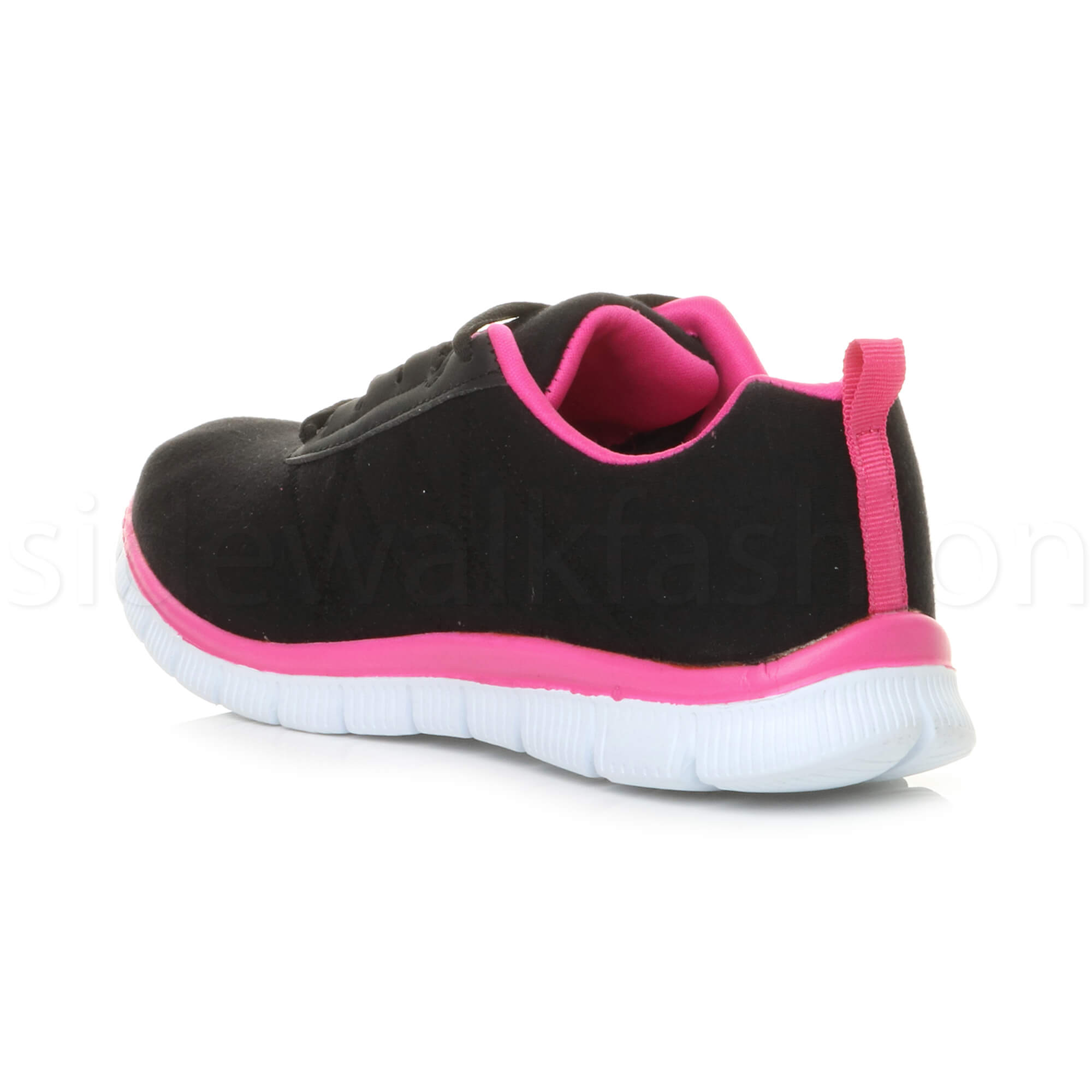 Womens-ladies-comfort-memory-foam-lace-up-trainers-activewear-sneakers-gym-shoes thumbnail 17