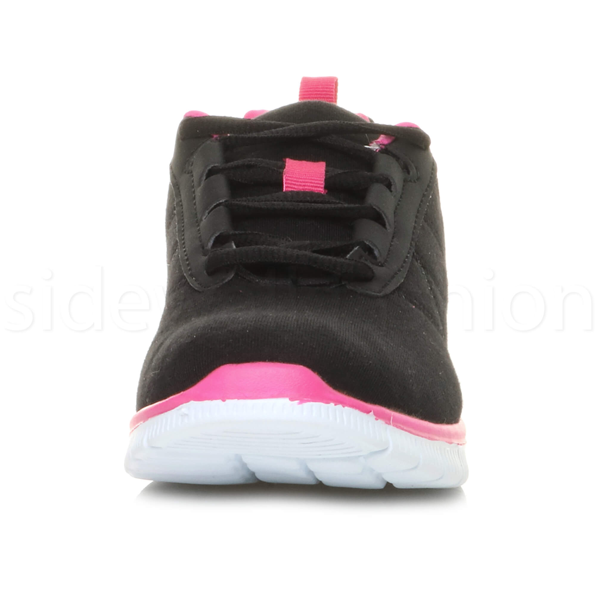 Womens-ladies-comfort-memory-foam-lace-up-trainers-activewear-sneakers-gym-shoes thumbnail 19