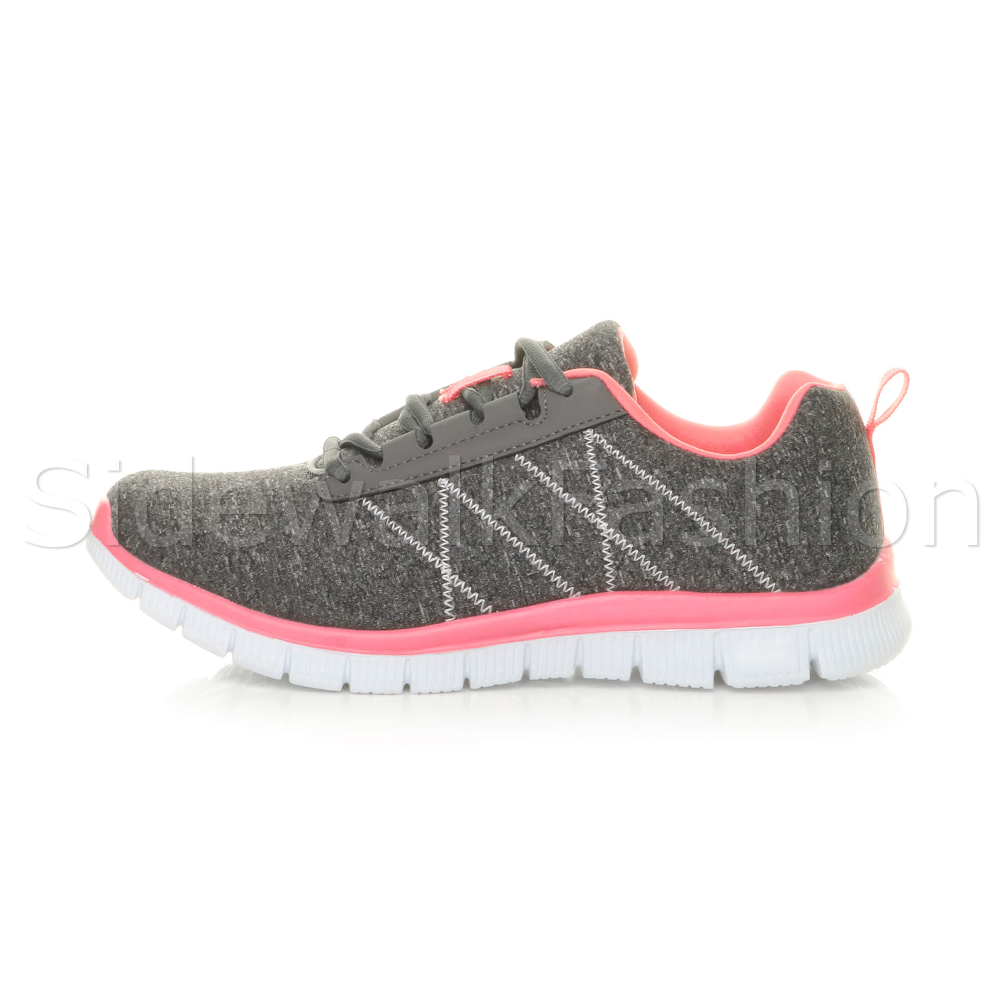 Womens-ladies-comfort-memory-foam-lace-up-trainers-activewear-sneakers-gym-shoes thumbnail 51