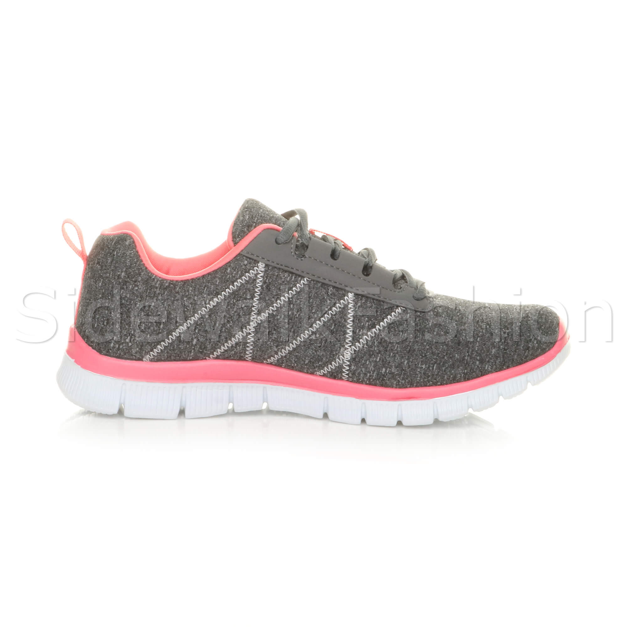 Womens-ladies-comfort-memory-foam-lace-up-trainers-activewear-sneakers-gym-shoes thumbnail 52