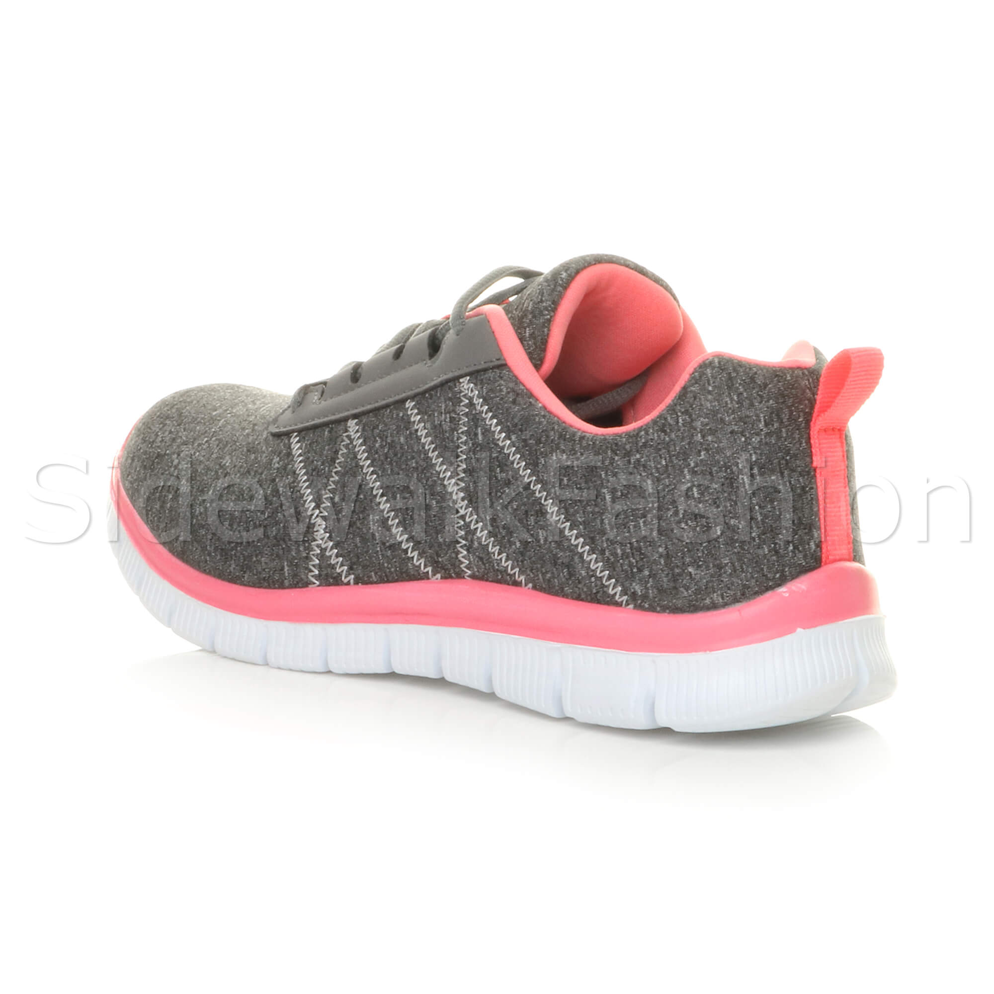 Womens-ladies-comfort-memory-foam-lace-up-trainers-activewear-sneakers-gym-shoes thumbnail 53