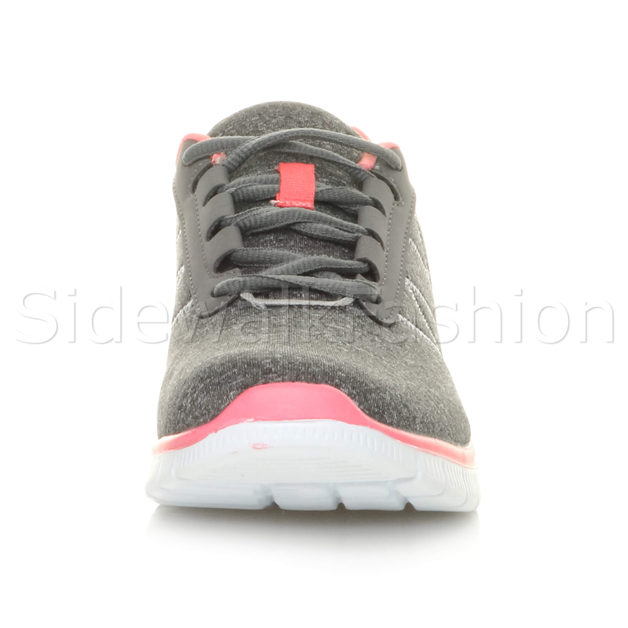 Womens-ladies-comfort-memory-foam-lace-up-trainers-activewear-sneakers-gym-shoes thumbnail 55