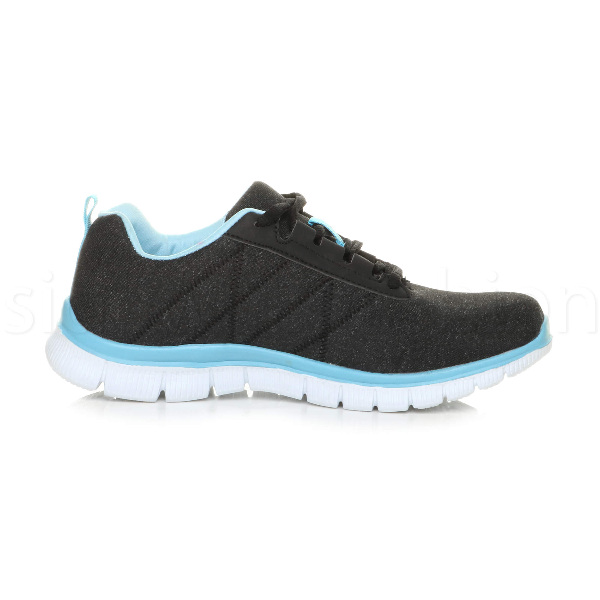Womens-ladies-comfort-memory-foam-lace-up-trainers-activewear-sneakers-gym-shoes thumbnail 10