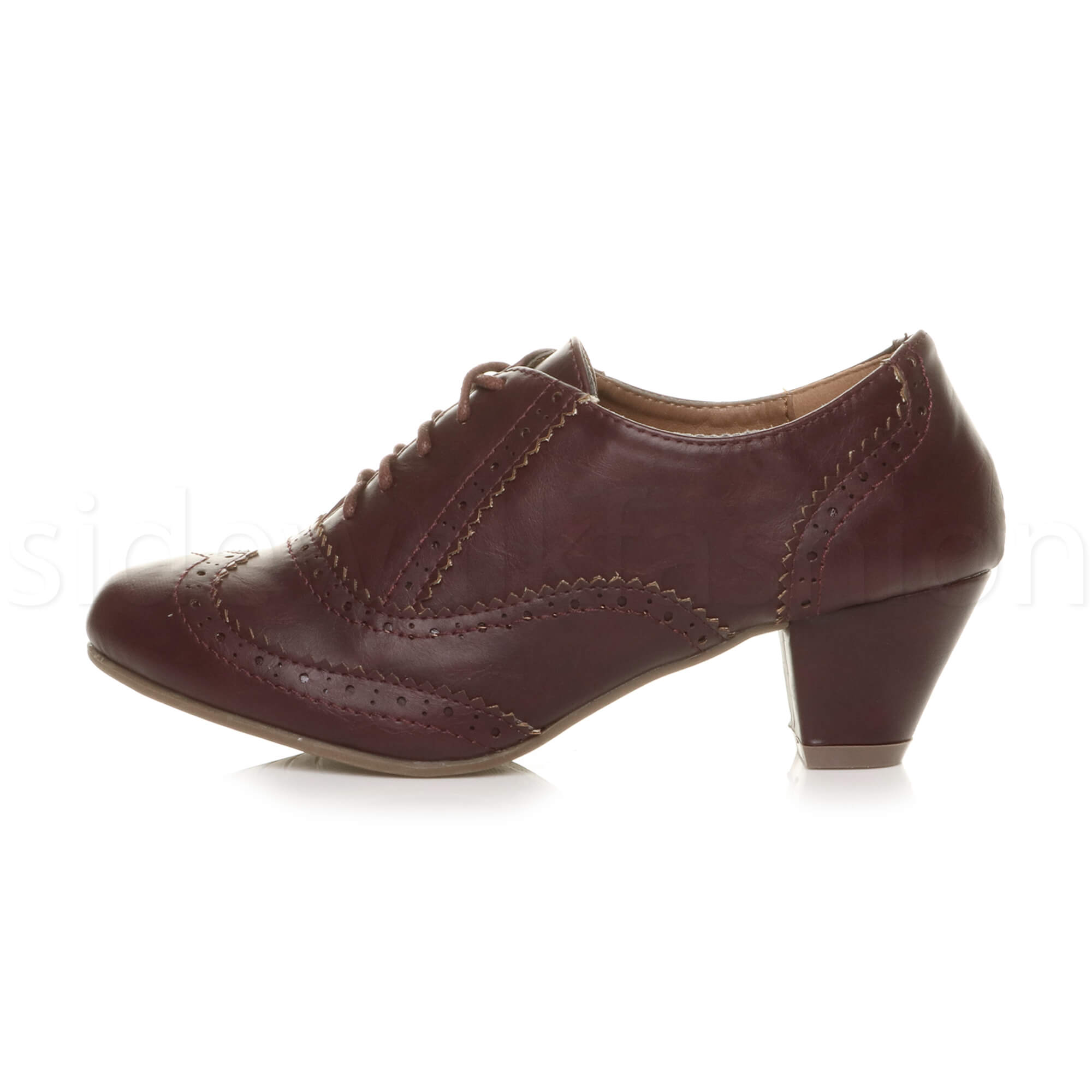 Mid Heel Lace Up Womens Shoes