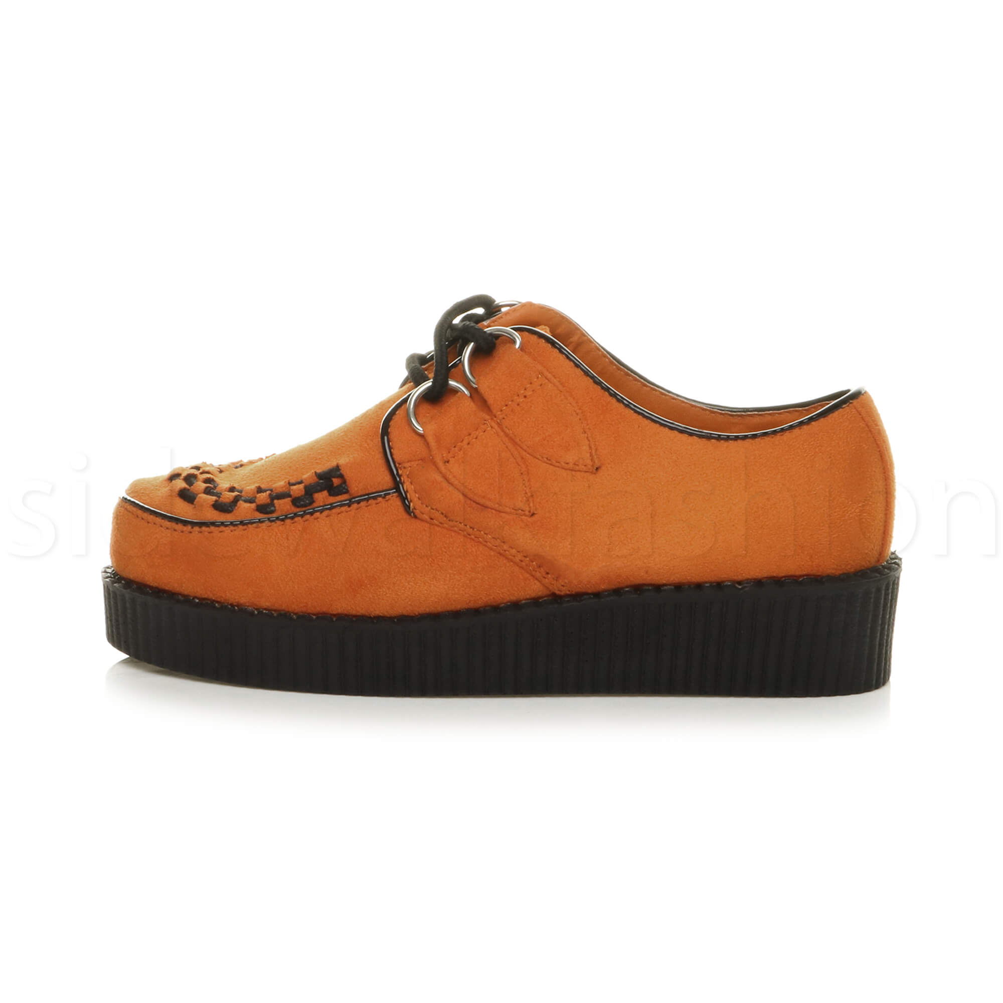 Womens-ladies-flat-platform-wedge-lace-up-goth-punk-creepers-shoes-boots-size miniatuur 49