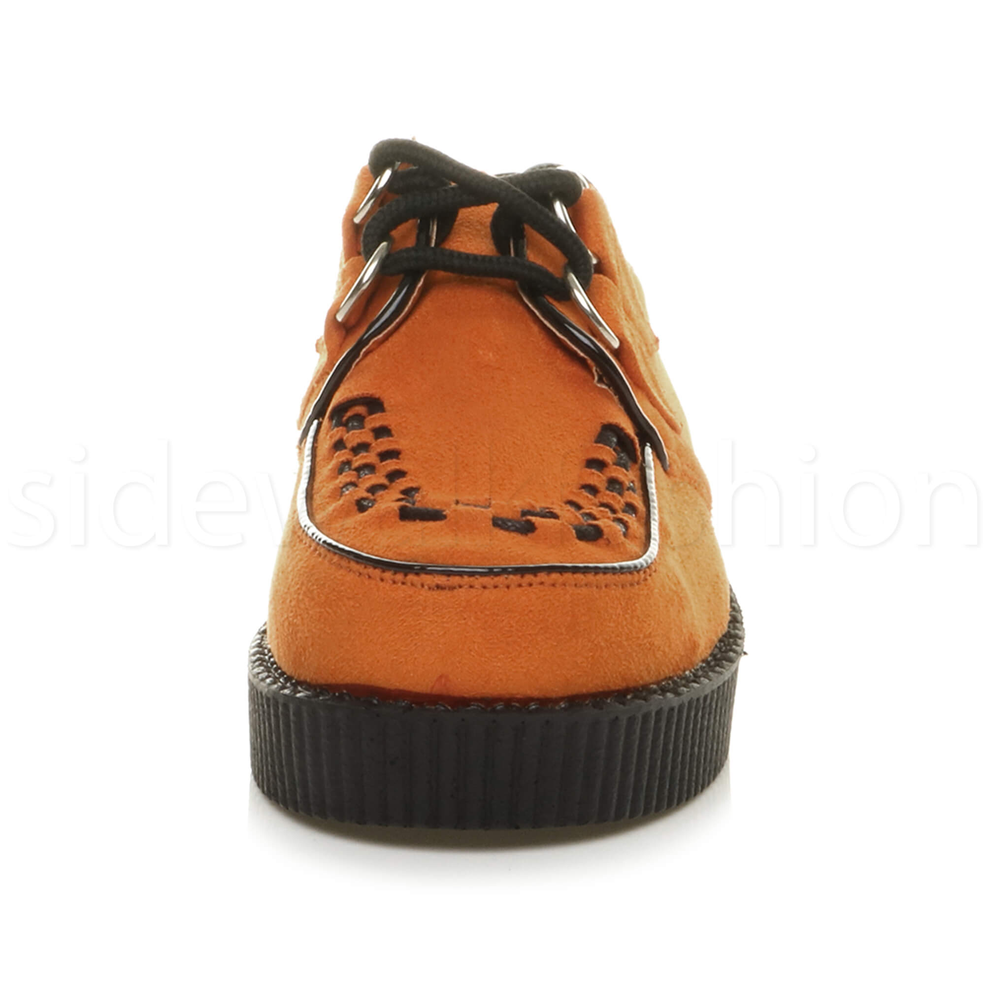 Womens-ladies-flat-platform-wedge-lace-up-goth-punk-creepers-shoes-boots-size miniatuur 52