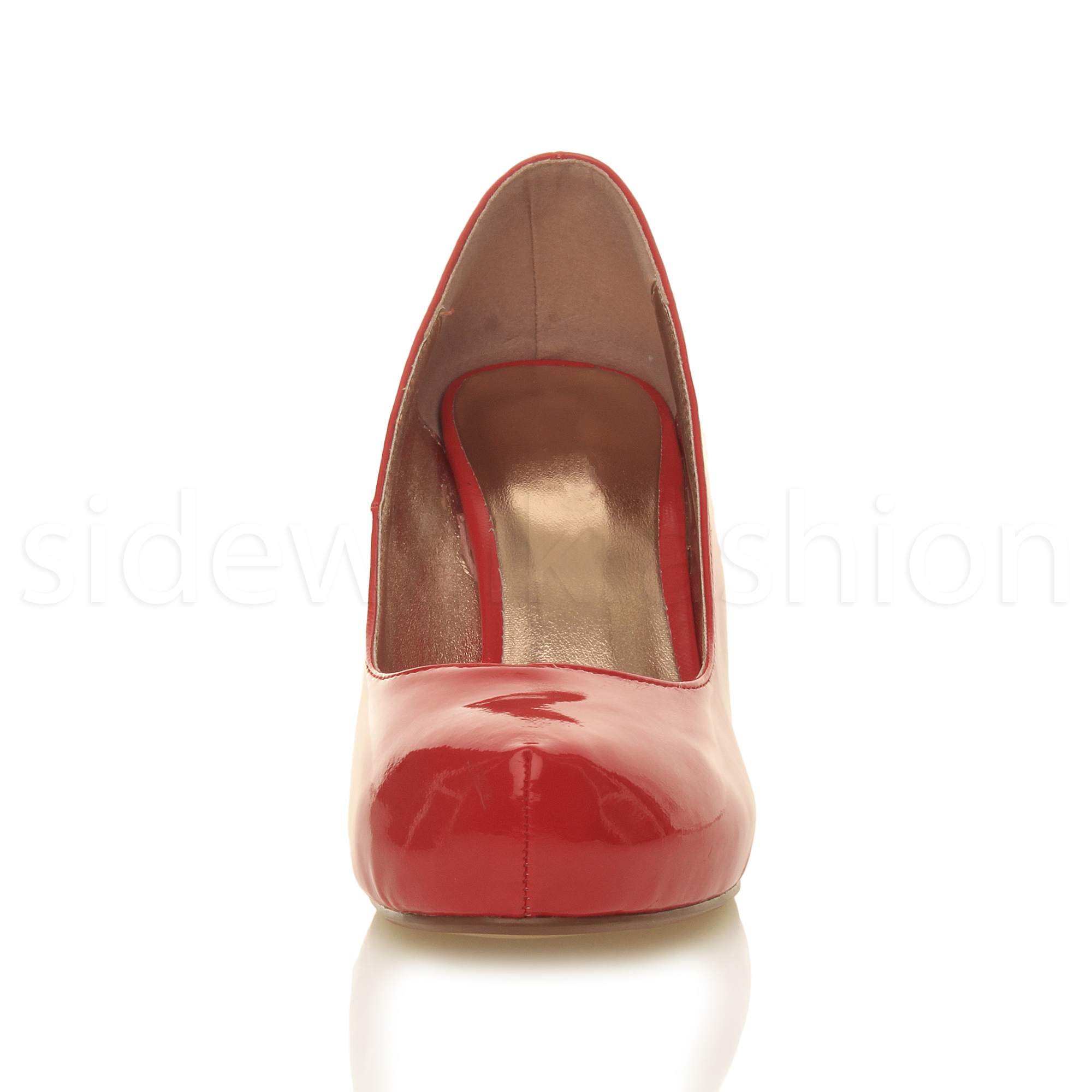 Womens-ladies-low-mid-heel-concealed-platform-work-party-court-shoes-pumps-size thumbnail 101