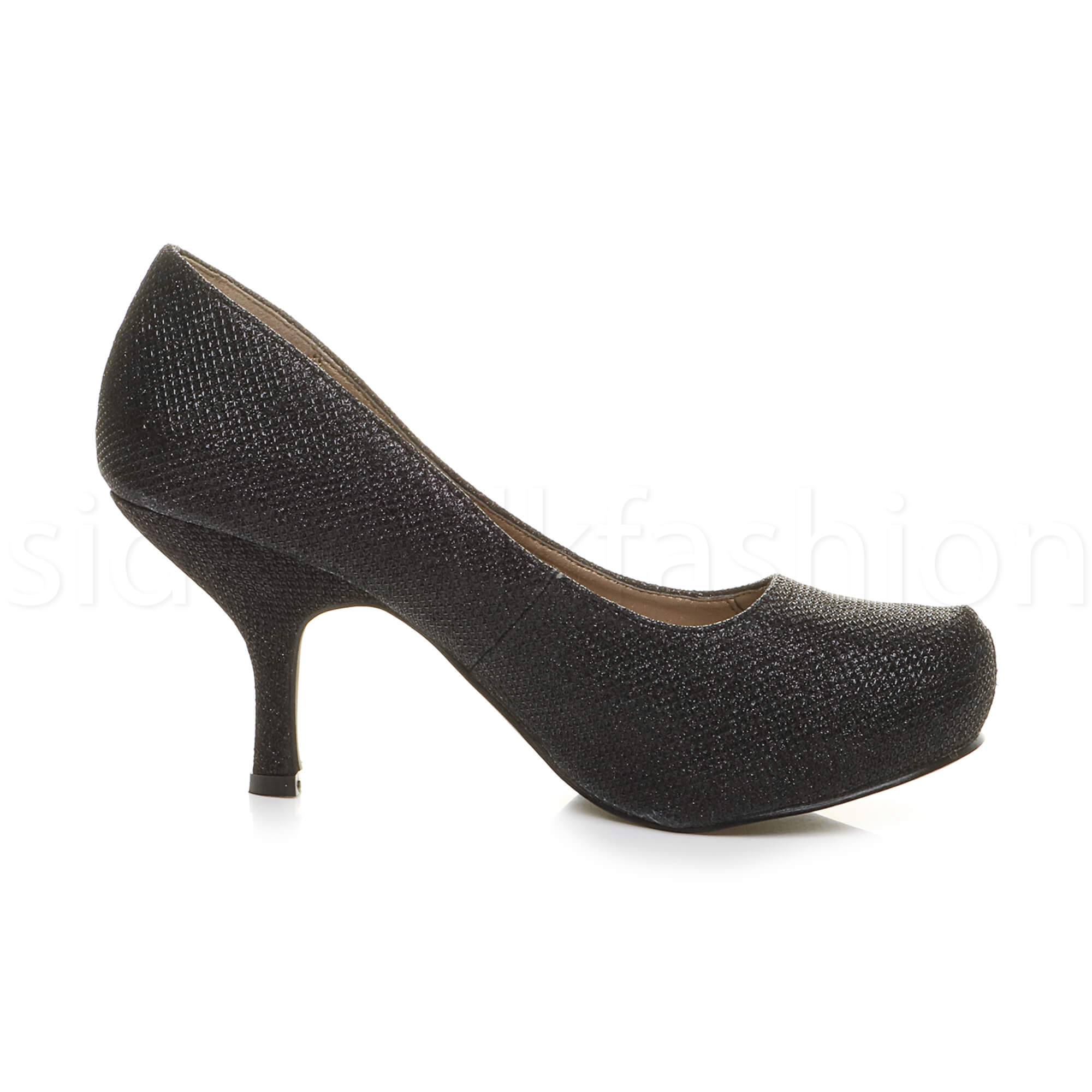 Womens-ladies-low-mid-heel-concealed-platform-work-party-court-shoes-pumps-size thumbnail 10