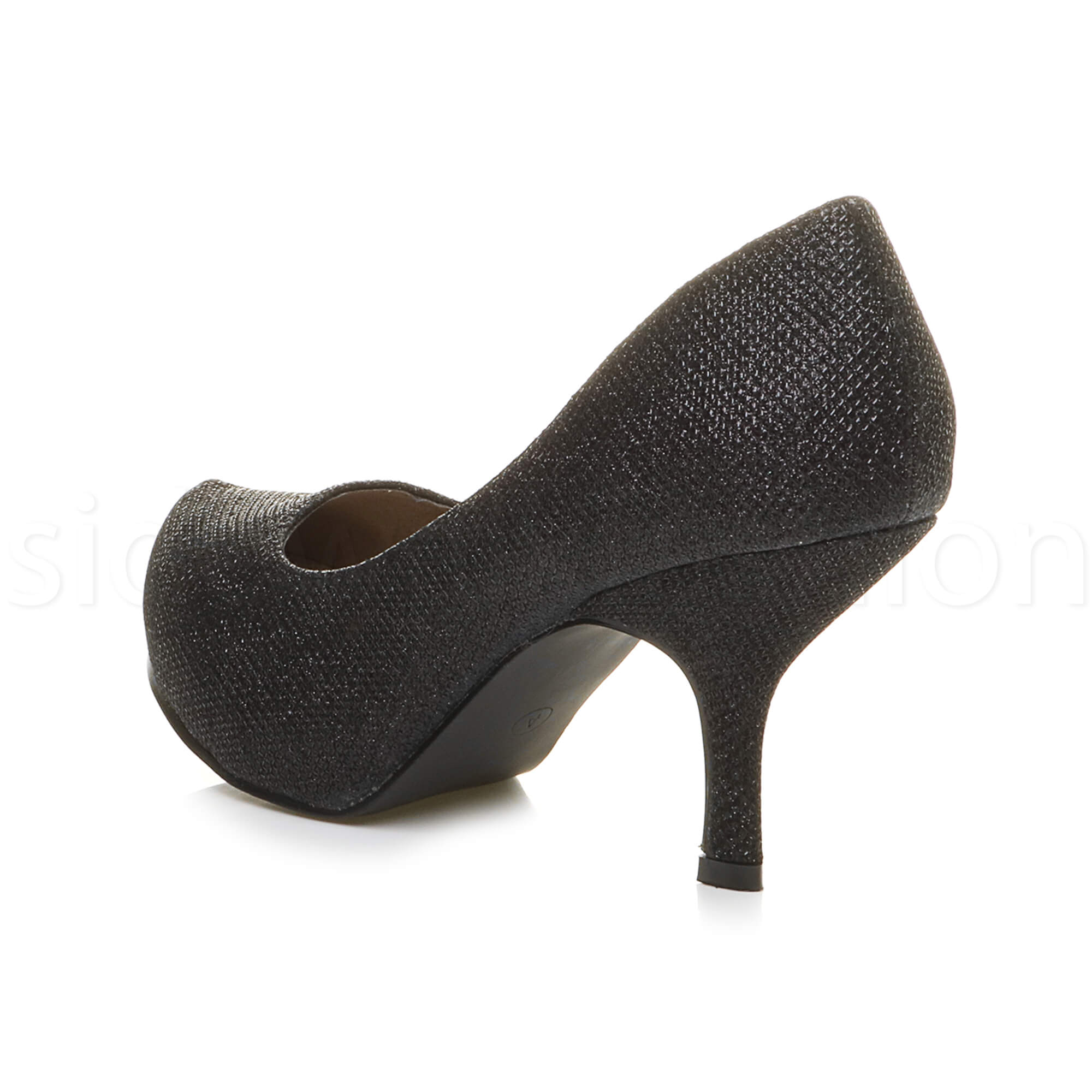 Womens-ladies-low-mid-heel-concealed-platform-work-party-court-shoes-pumps-size thumbnail 11
