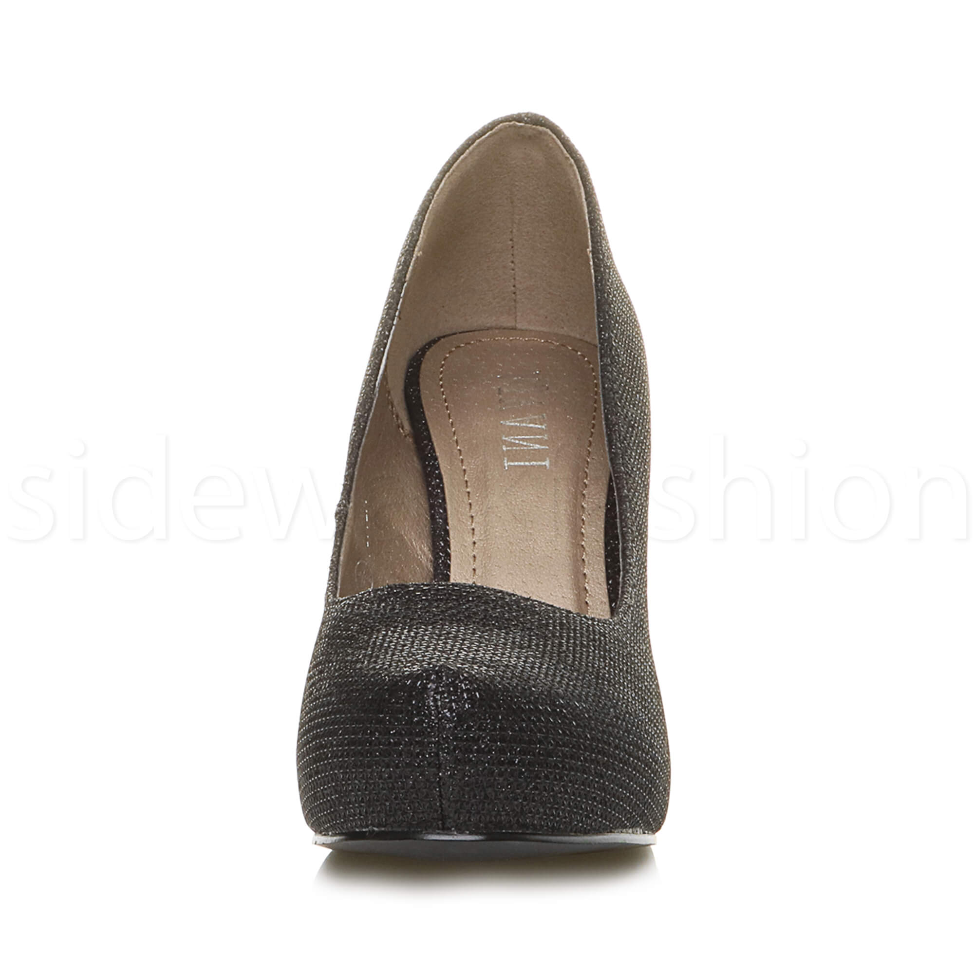 Womens-ladies-low-mid-heel-concealed-platform-work-party-court-shoes-pumps-size thumbnail 13