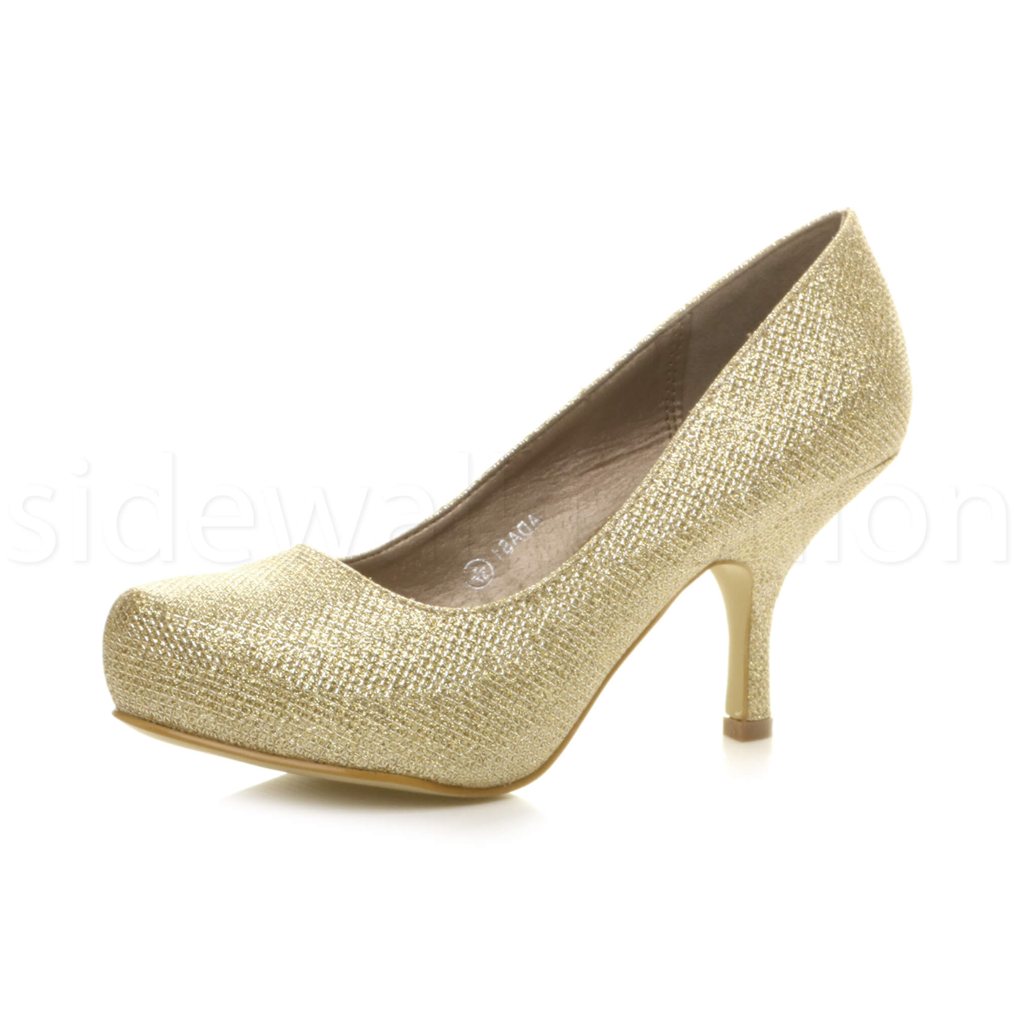 Womens-ladies-low-mid-heel-concealed-platform-work-party-court-shoes-pumps-size thumbnail 54