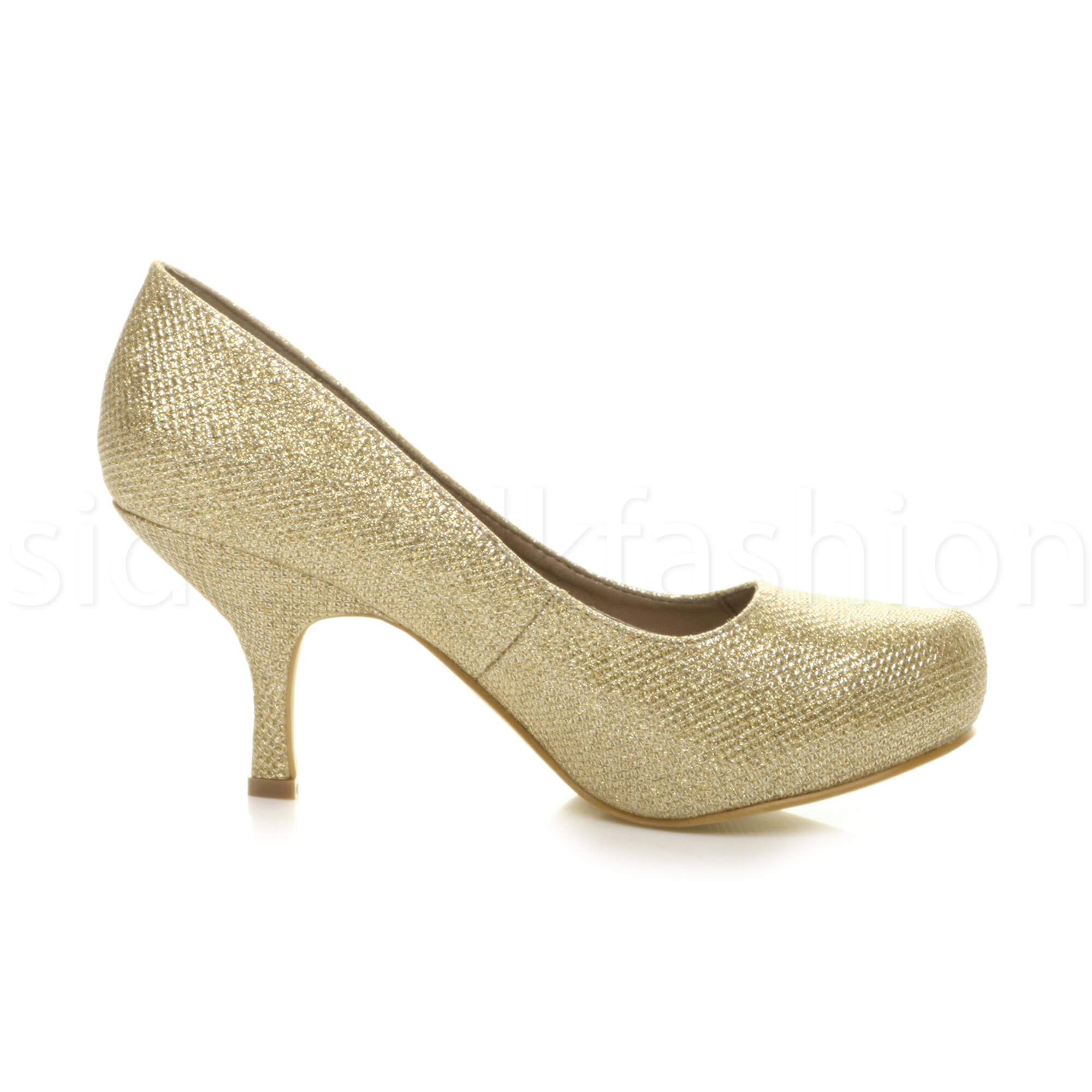 Womens-ladies-low-mid-heel-concealed-platform-work-party-court-shoes-pumps-size thumbnail 56