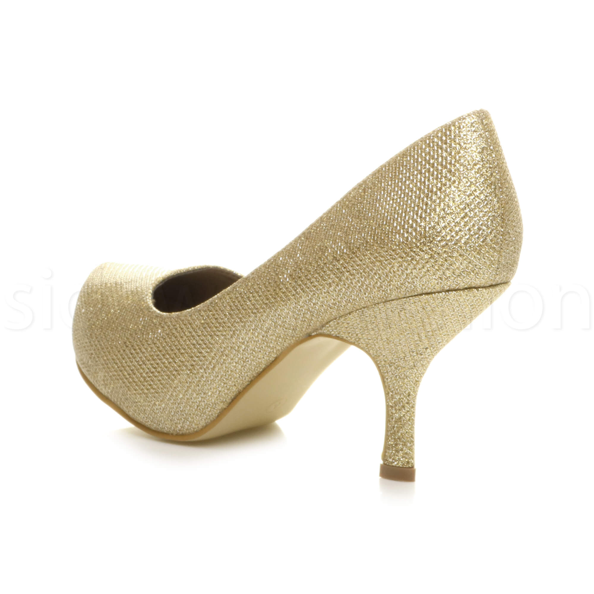 Womens-ladies-low-mid-heel-concealed-platform-work-party-court-shoes-pumps-size thumbnail 57