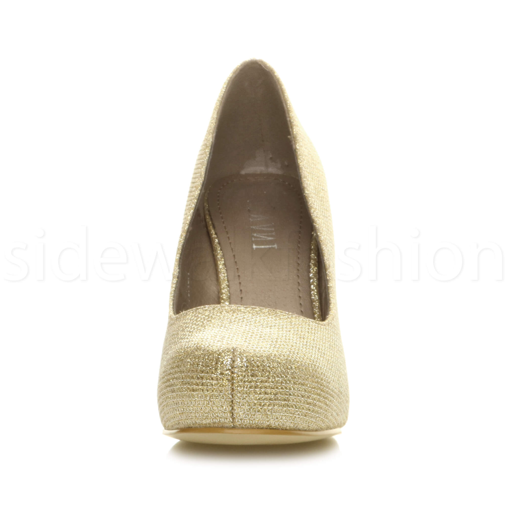 Womens-ladies-low-mid-heel-concealed-platform-work-party-court-shoes-pumps-size thumbnail 59