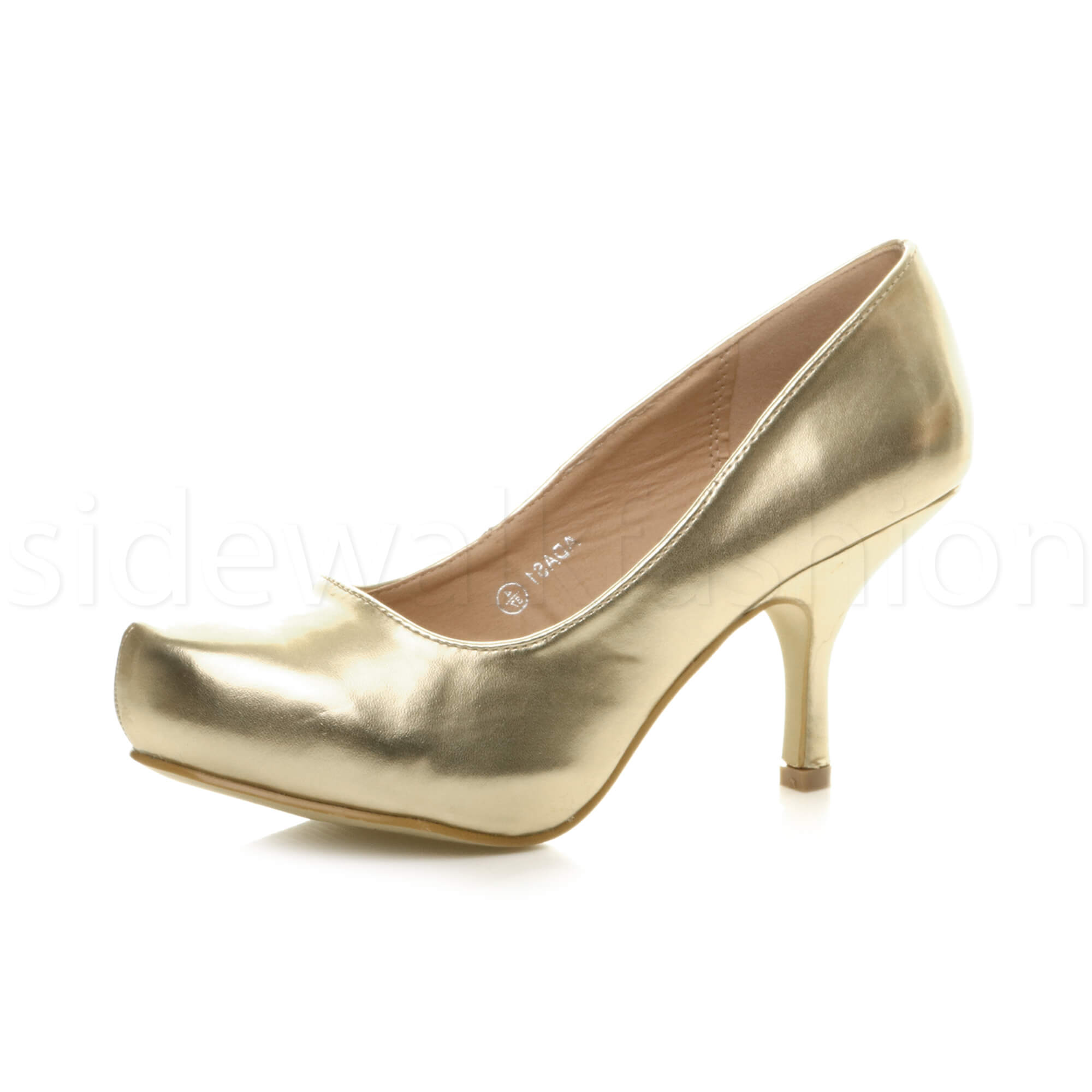 Womens-ladies-low-mid-heel-concealed-platform-work-party-court-shoes-pumps-size thumbnail 60