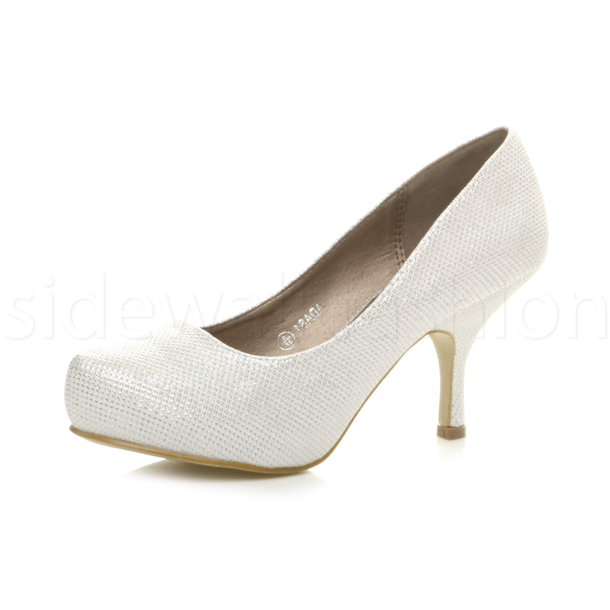 Womens-ladies-low-mid-heel-concealed-platform-work-party-court-shoes-pumps-size thumbnail 66