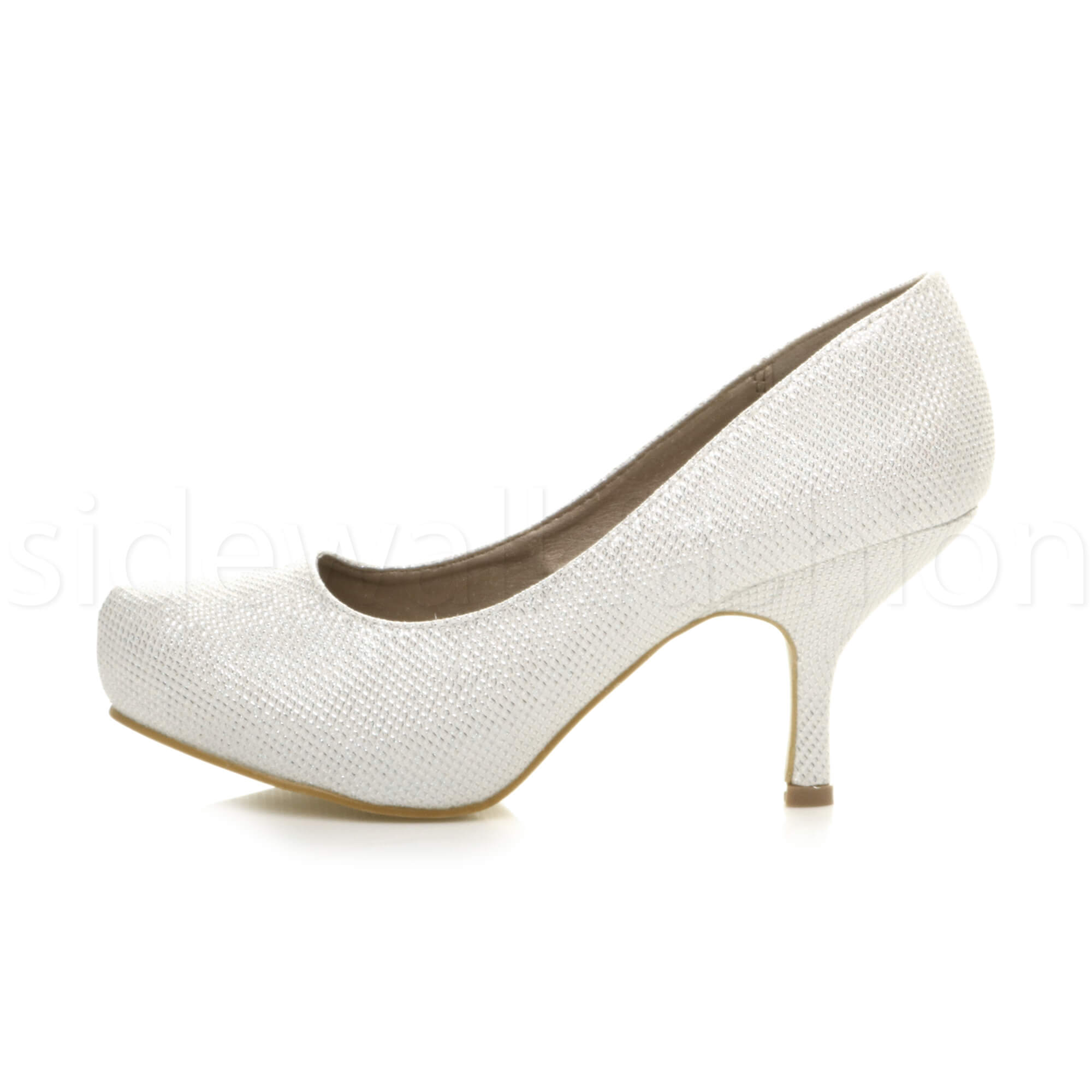Womens-ladies-low-mid-heel-concealed-platform-work-party-court-shoes-pumps-size thumbnail 67