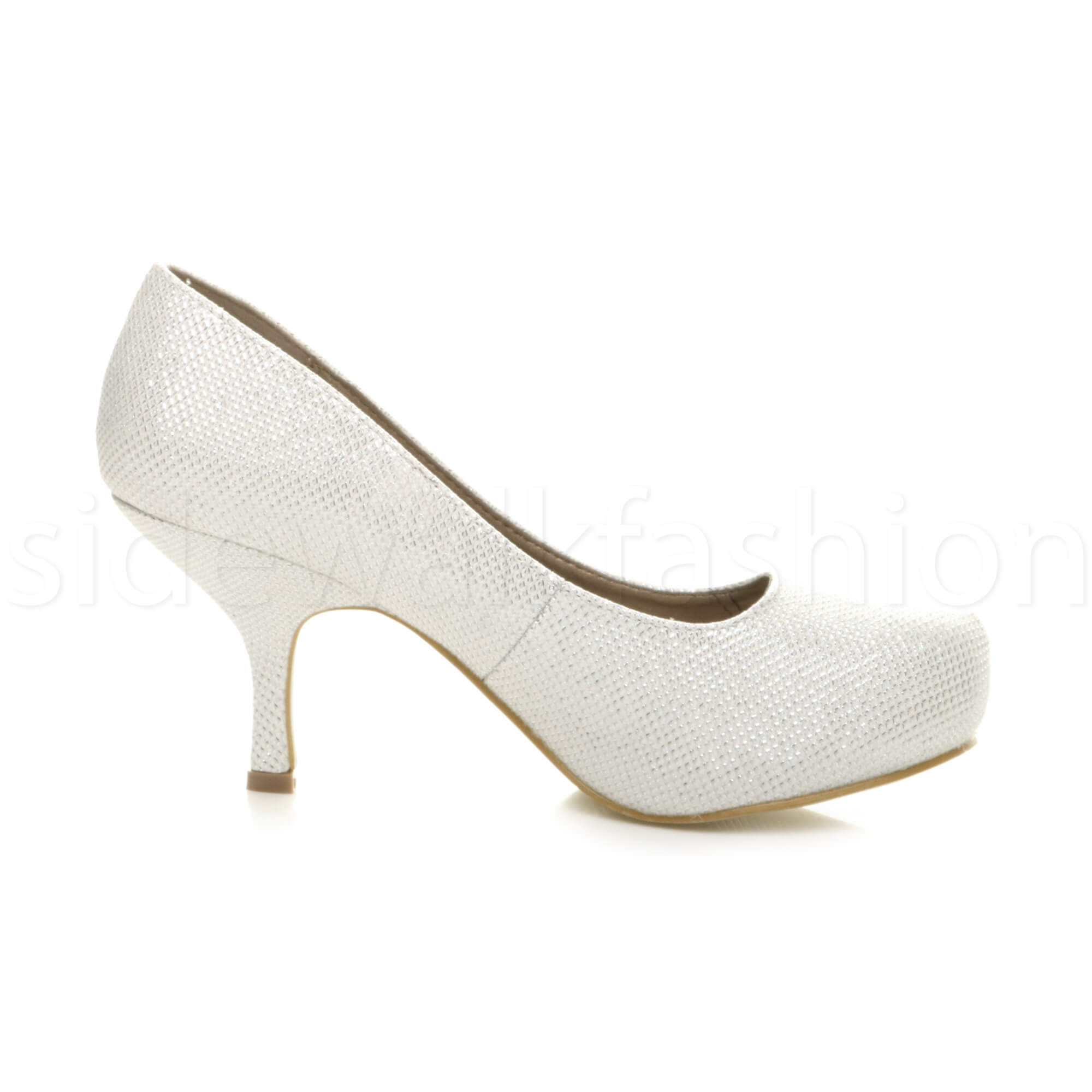 Womens-ladies-low-mid-heel-concealed-platform-work-party-court-shoes-pumps-size thumbnail 68