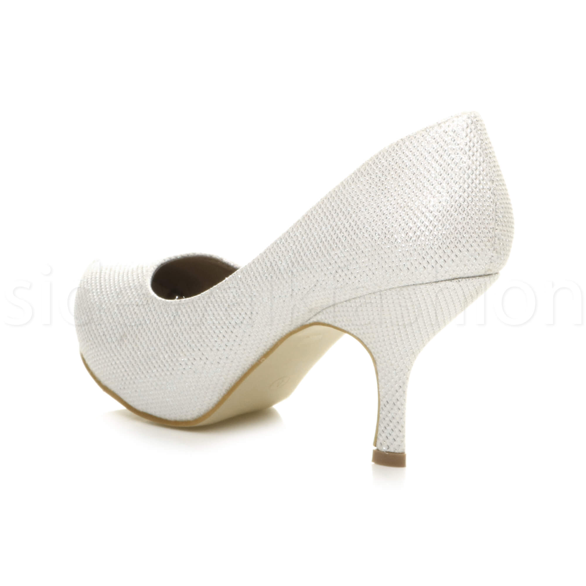 Womens-ladies-low-mid-heel-concealed-platform-work-party-court-shoes-pumps-size thumbnail 69