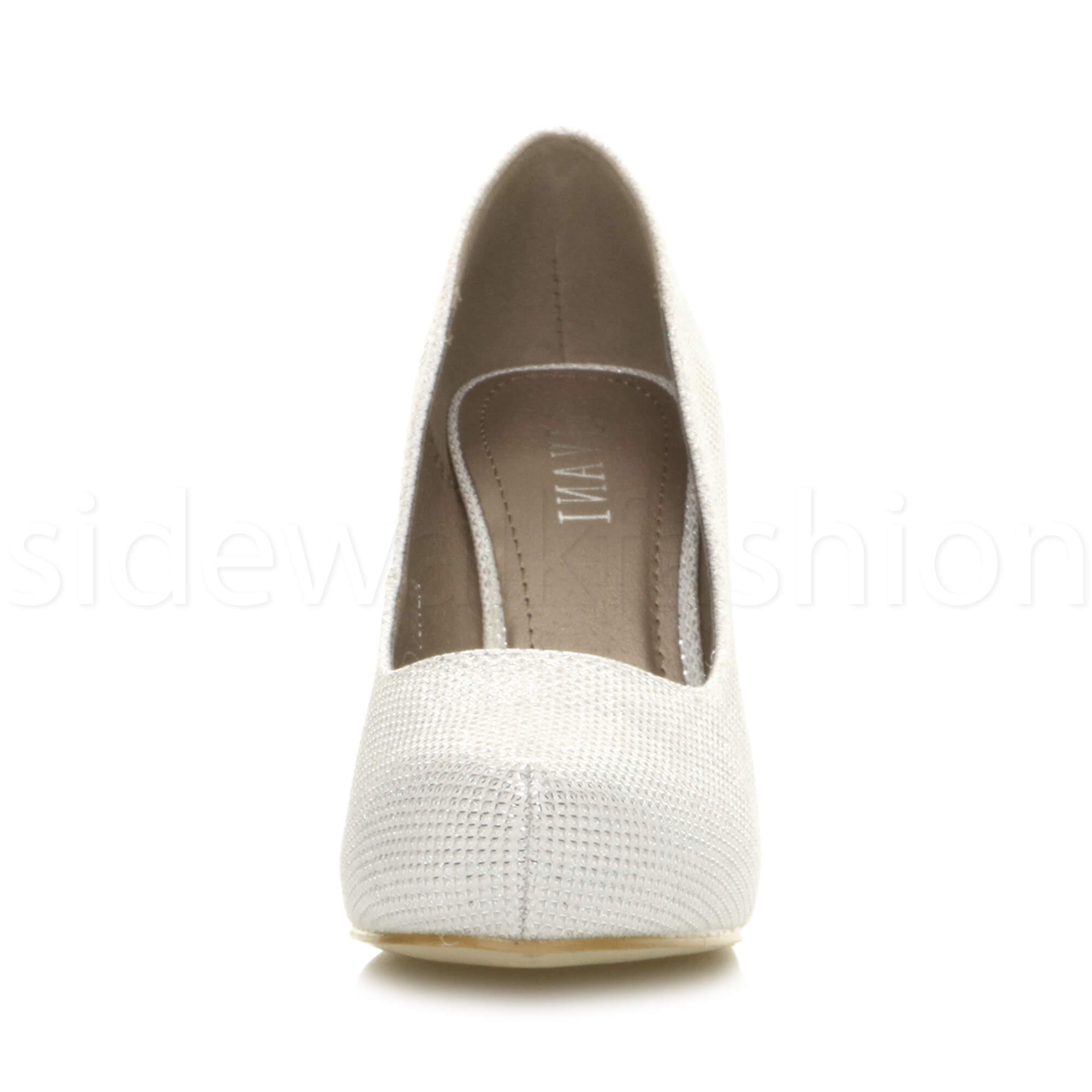 Womens-ladies-low-mid-heel-concealed-platform-work-party-court-shoes-pumps-size thumbnail 71