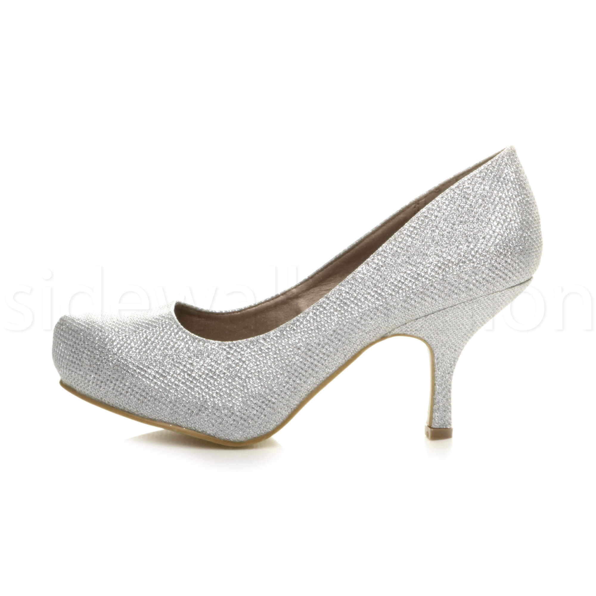 Womens-ladies-low-mid-heel-concealed-platform-work-party-court-shoes-pumps-size thumbnail 126
