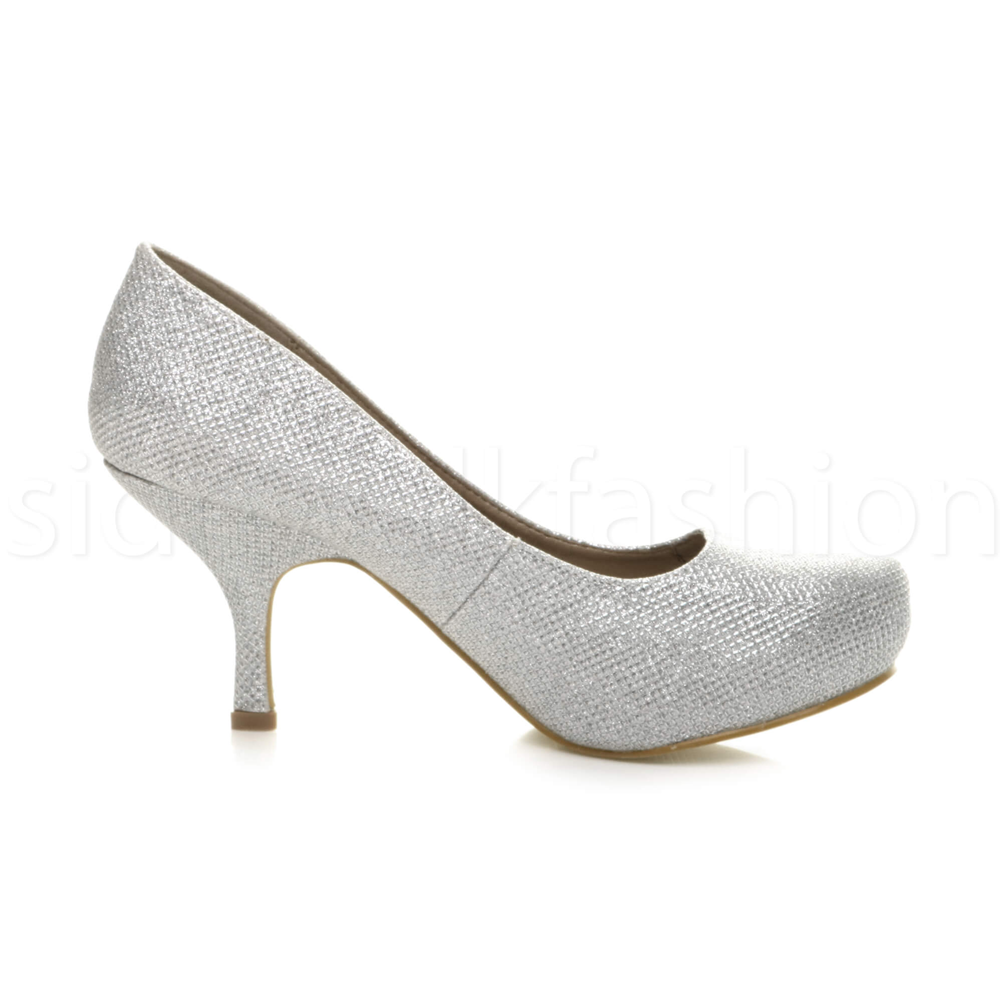 Womens-ladies-low-mid-heel-concealed-platform-work-party-court-shoes-pumps-size thumbnail 127